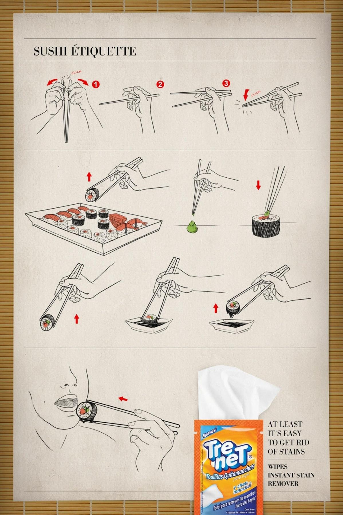 Trenet Print Ad -  Sushi