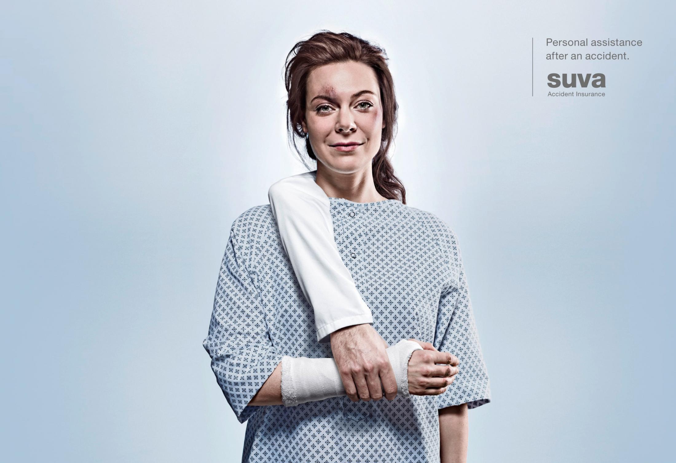Suva Accident Insurance Print Ad -  Arm, 1