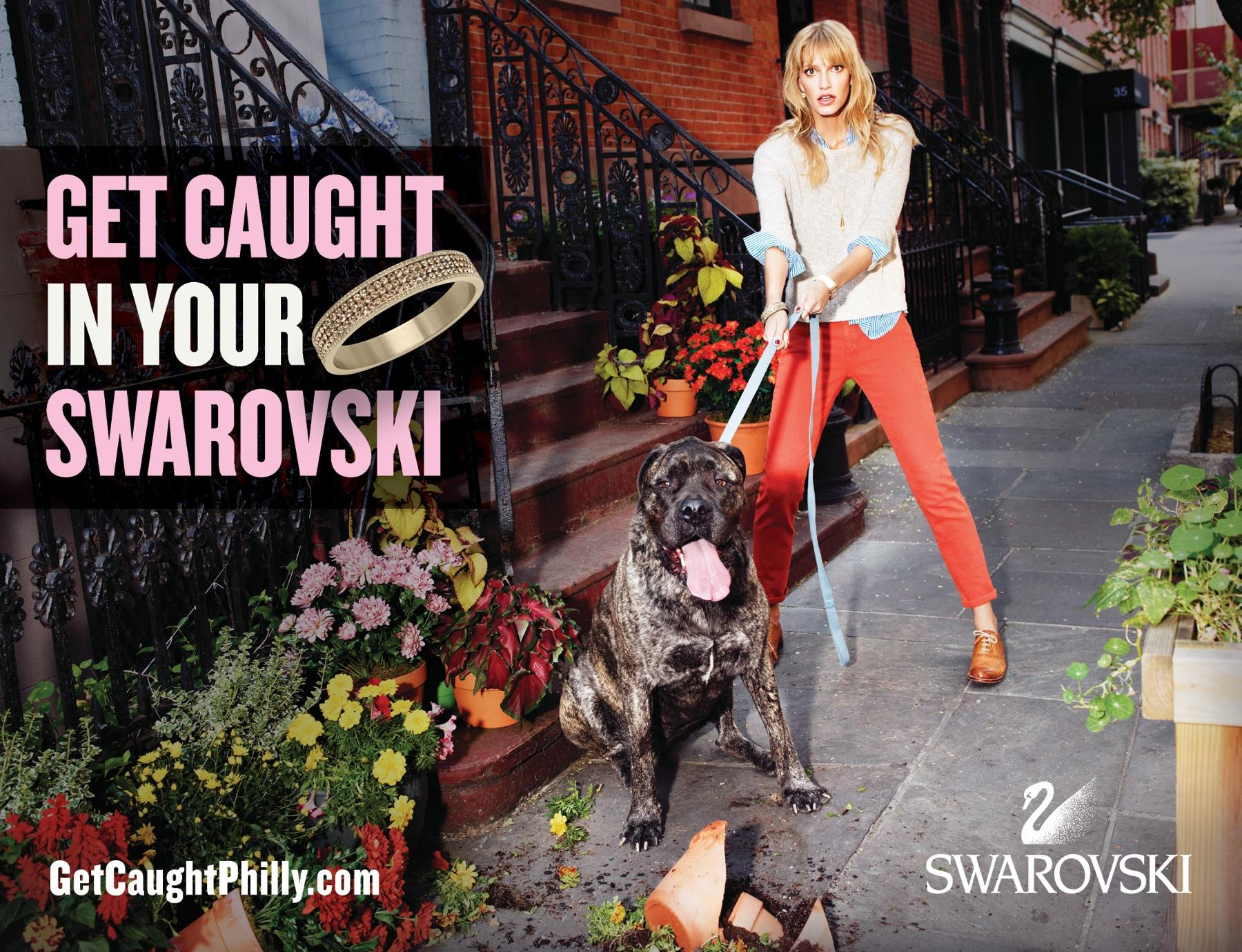 Swarovski Print Ad -  Get caught in your Swarovski, 5