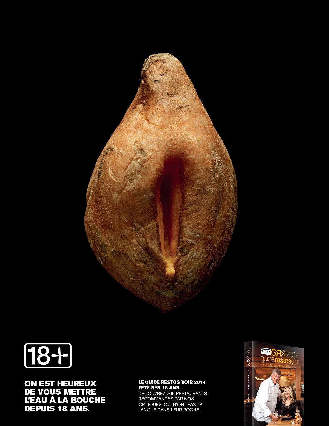 The Voir Restaurant Guide Print Ad -  Sweet potato