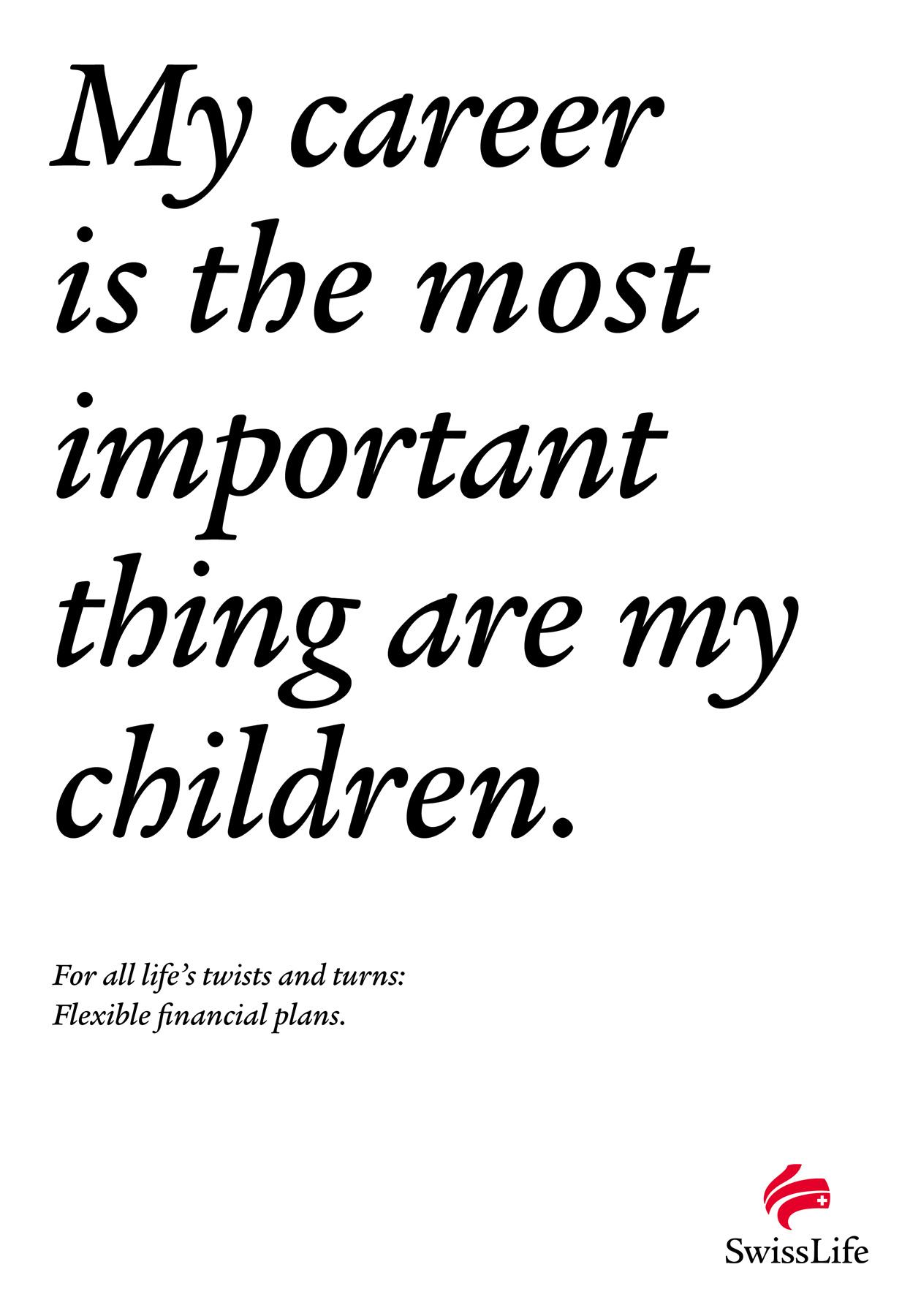 Swiss Life Print Ad -  Life's Turns In A Sentence, 8