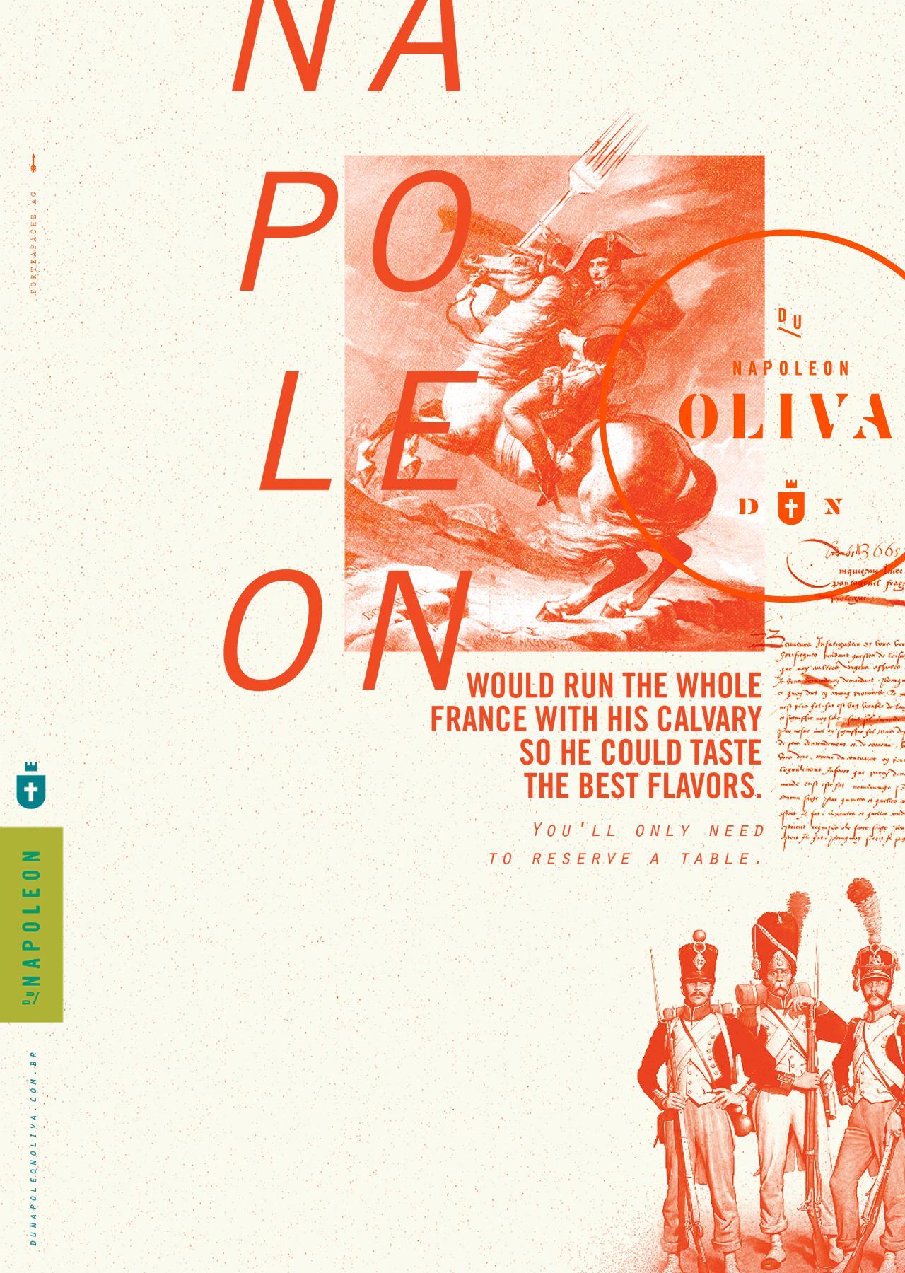 Du Napoleon Oliva Print Ad - Table