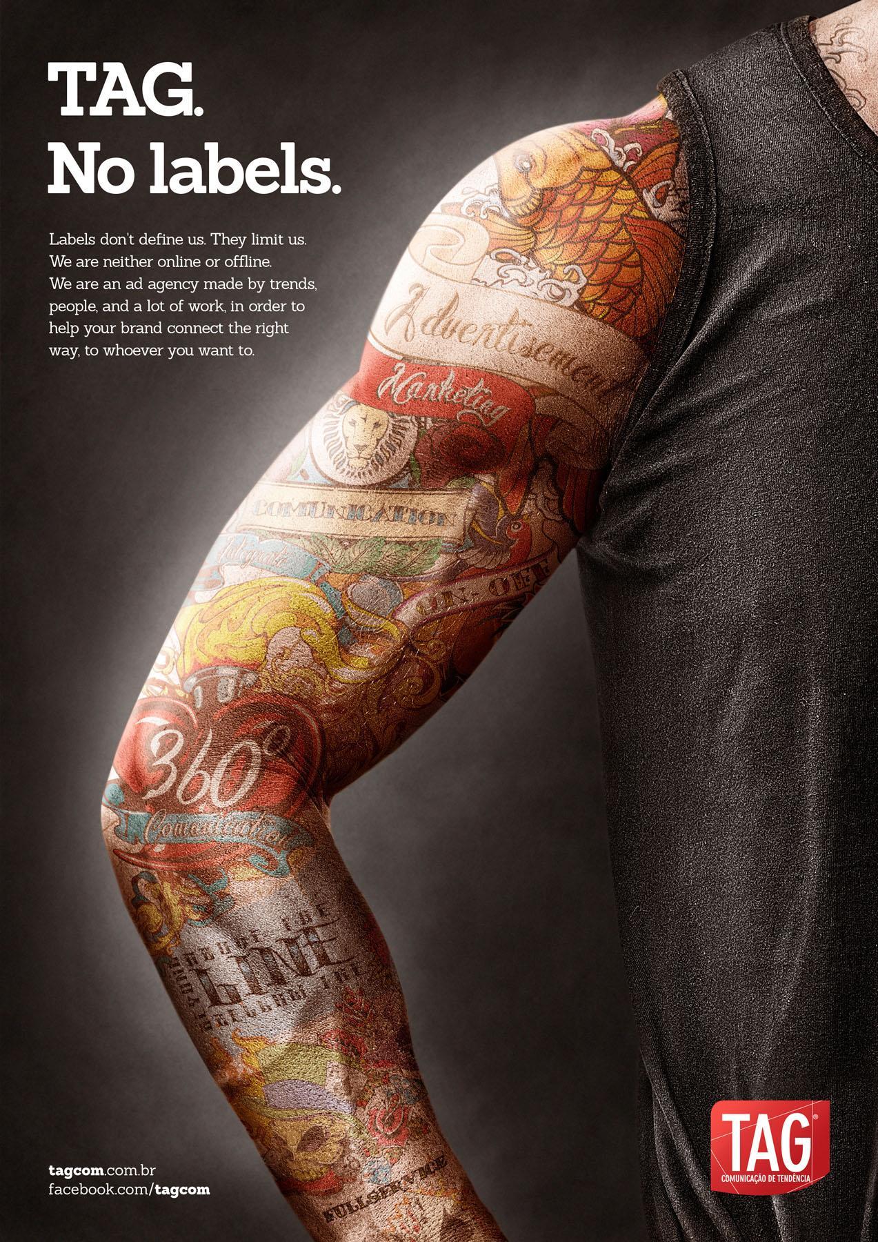 TAG Print Ad -  Tattoo