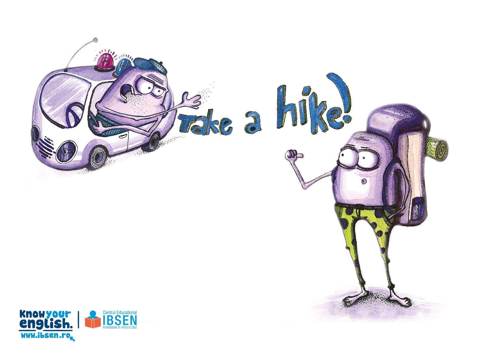IBSEN Print Ad -  Know Your English, Take a hike