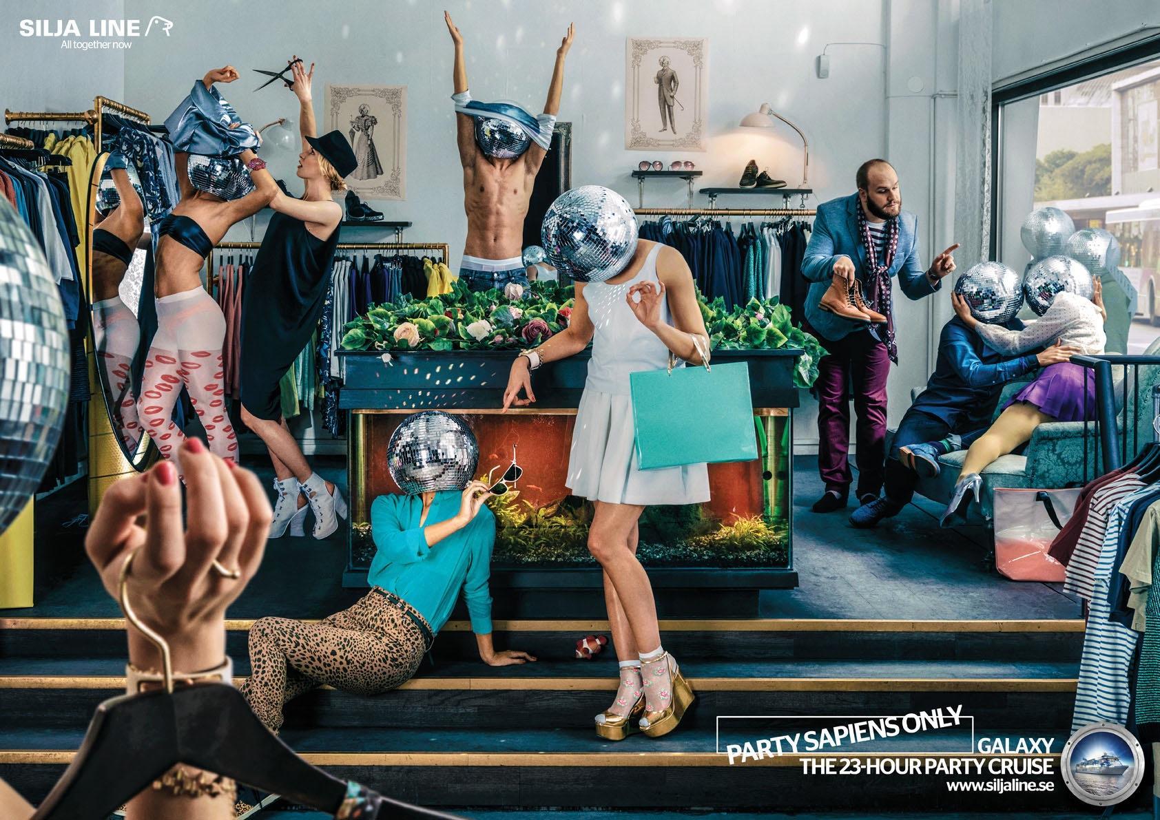 Tallink Silja Print Ad -  Discoheads, 2