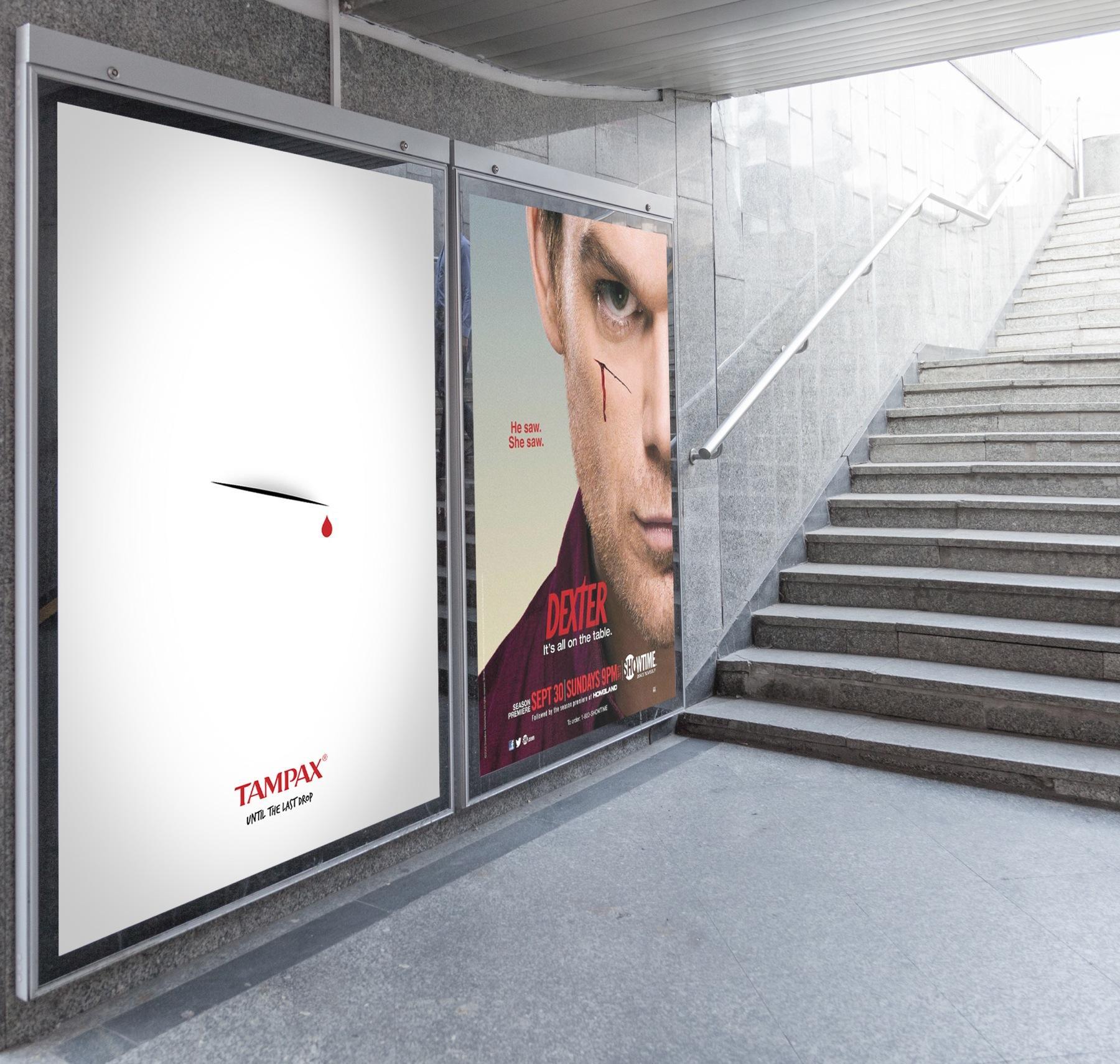 Tampax Outdoor Ad -  Dexter
