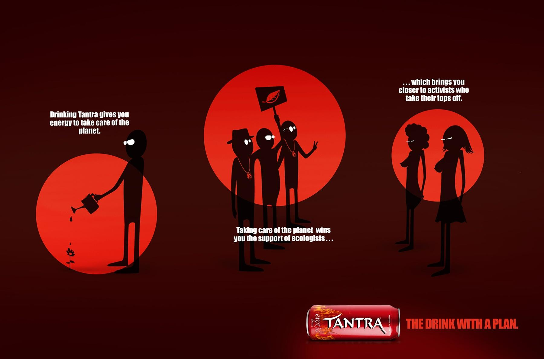 Tantra Erotic Drink Print Ad -  The drink with a plan, 1