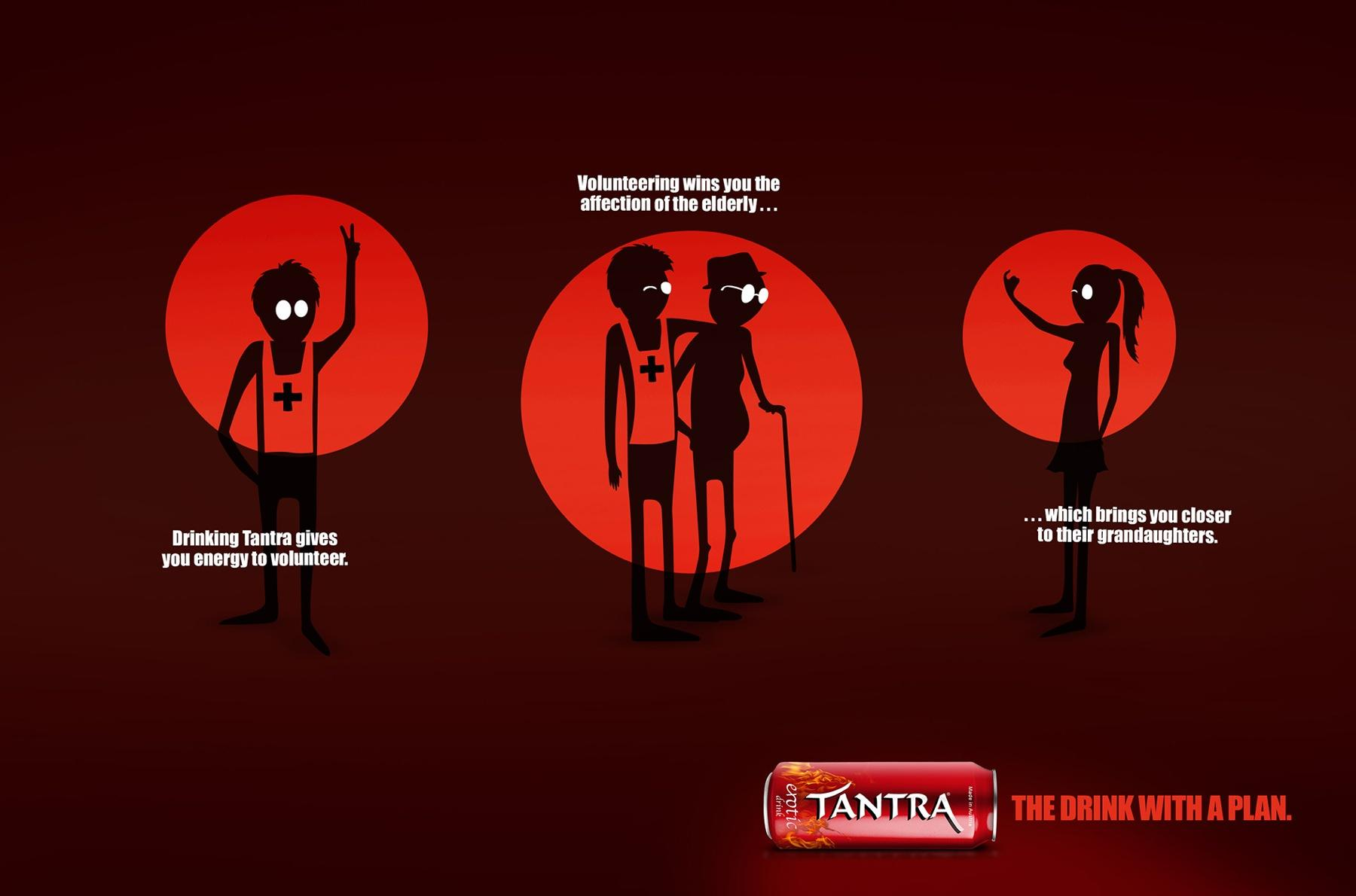 Tantra Erotic Drink Print Ad -  The drink with a plan, 2