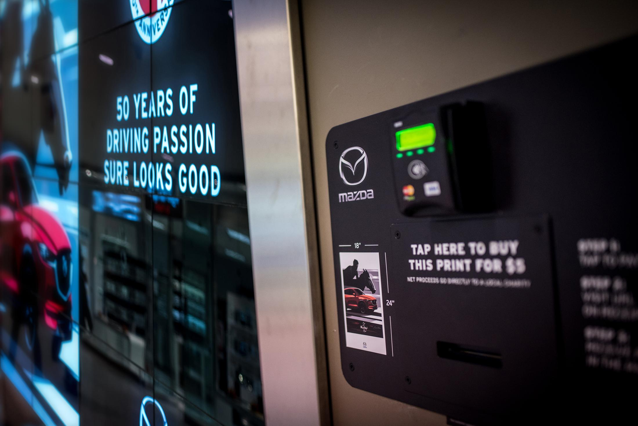 Mazda Experiential Ad - Tap-to-Pay Billboard