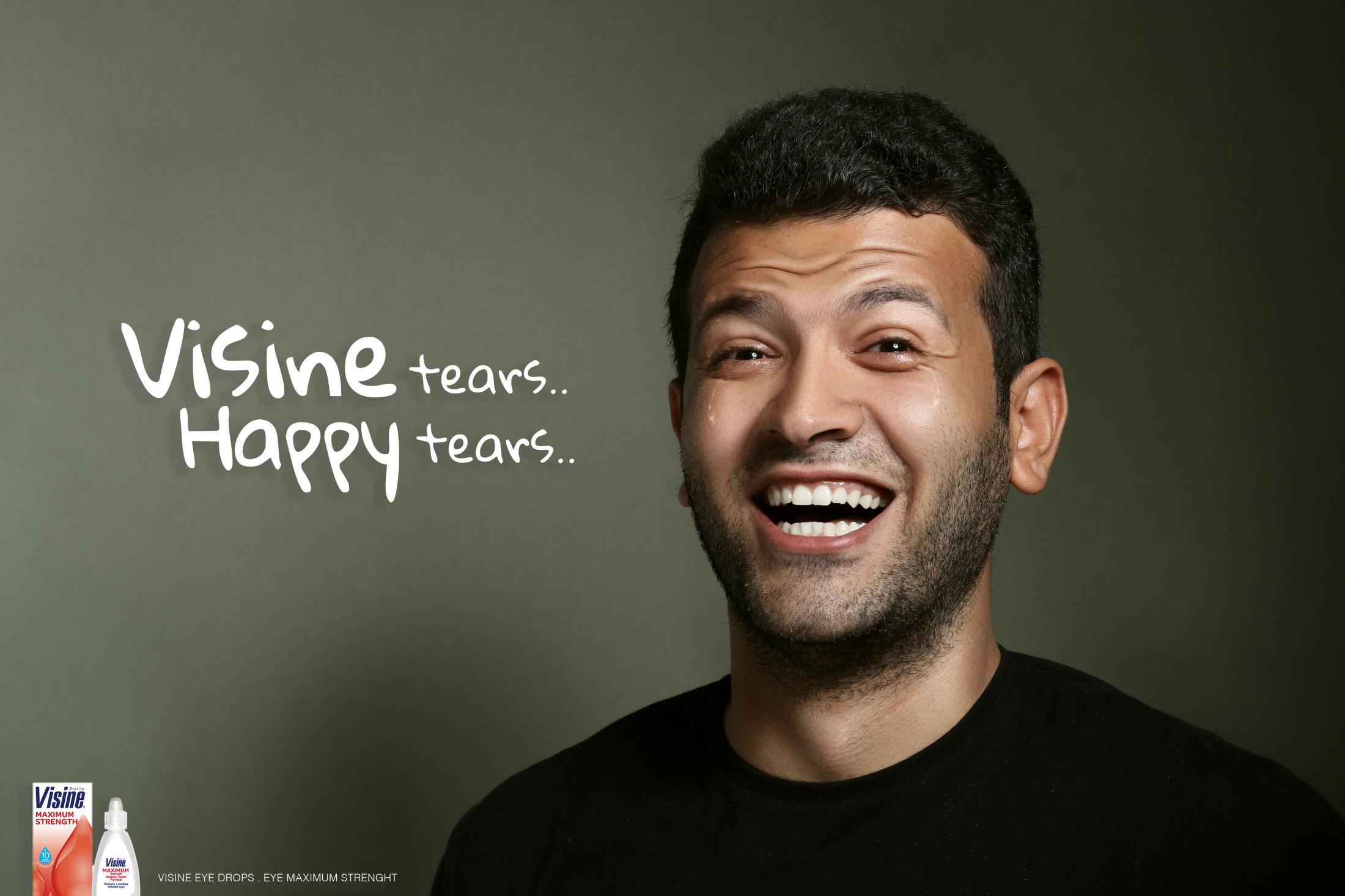 Visine Print Ad - Happy Tears - Tarek