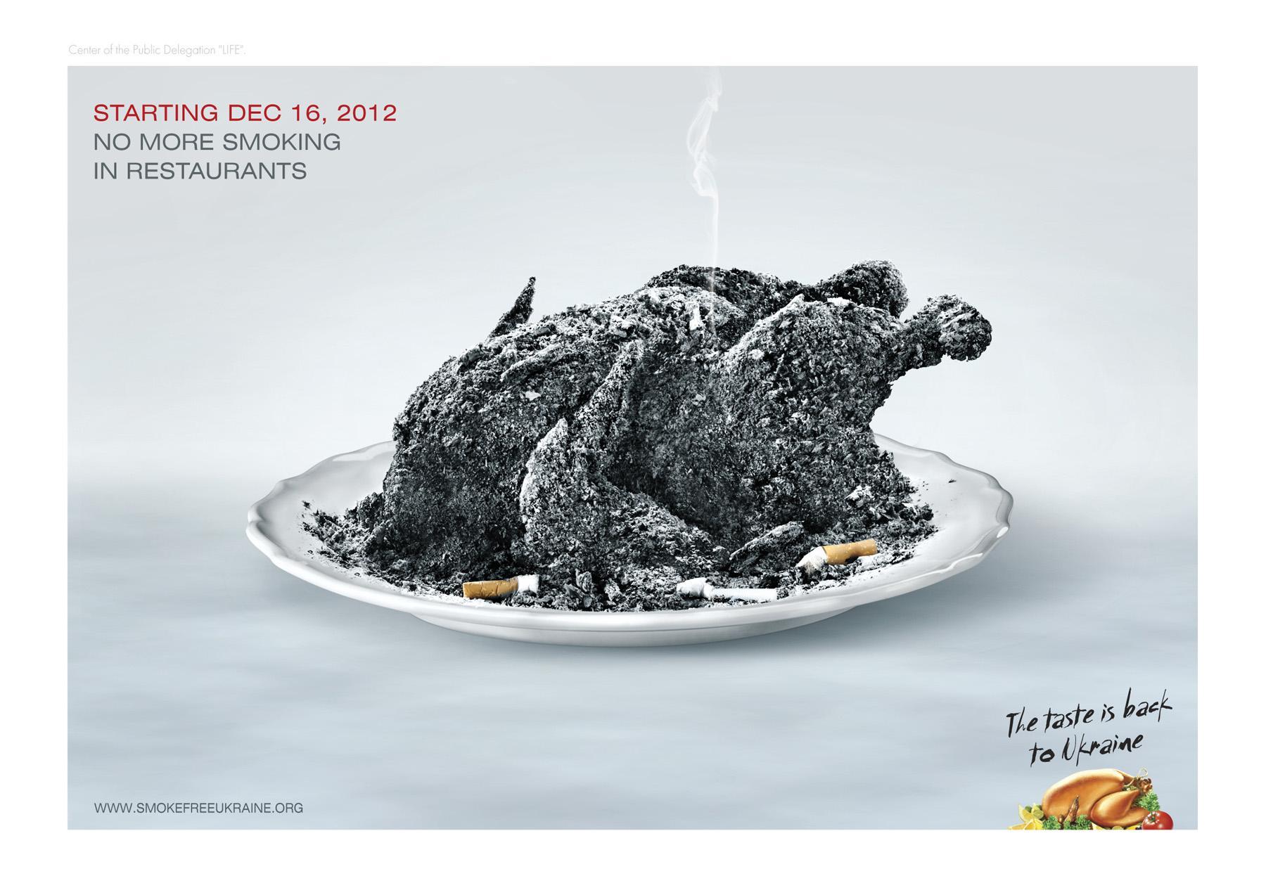 smokefreeukraine Print Ad -  The taste is back to Ukraine