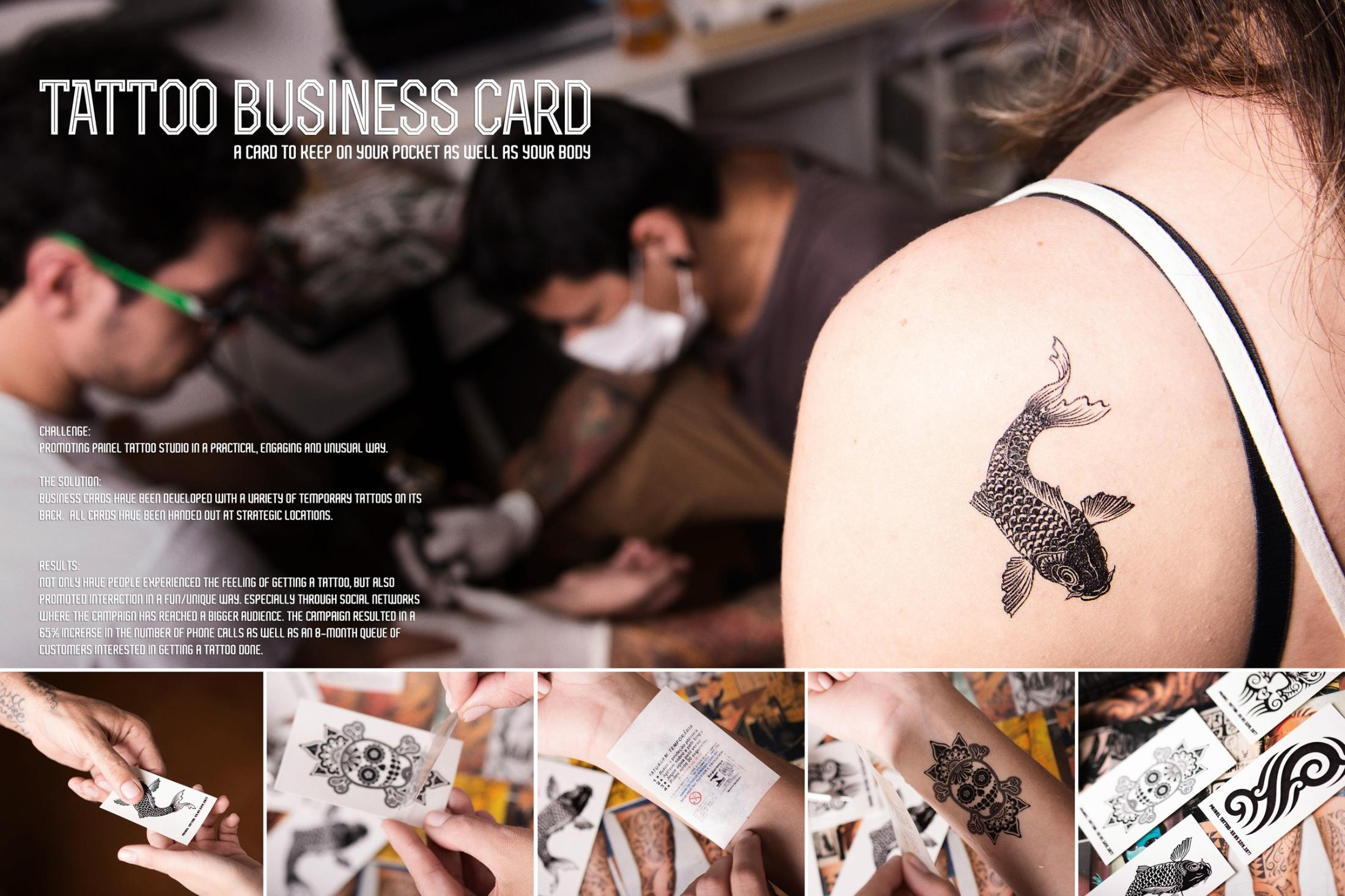 Painel Tattoo Studio Ambient Ad -  Tattoo business card