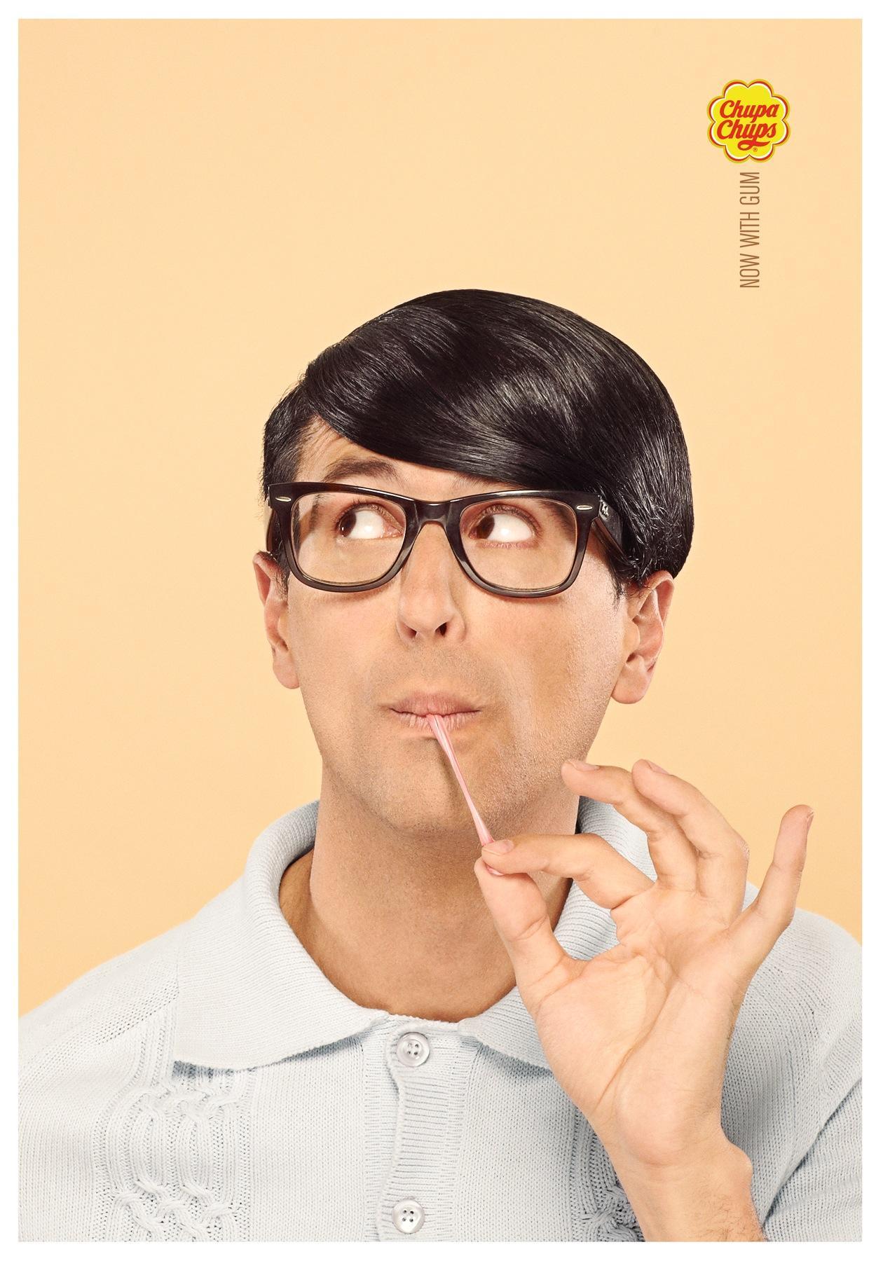 Chupa Chups Print Ad -  Now with gum, 1
