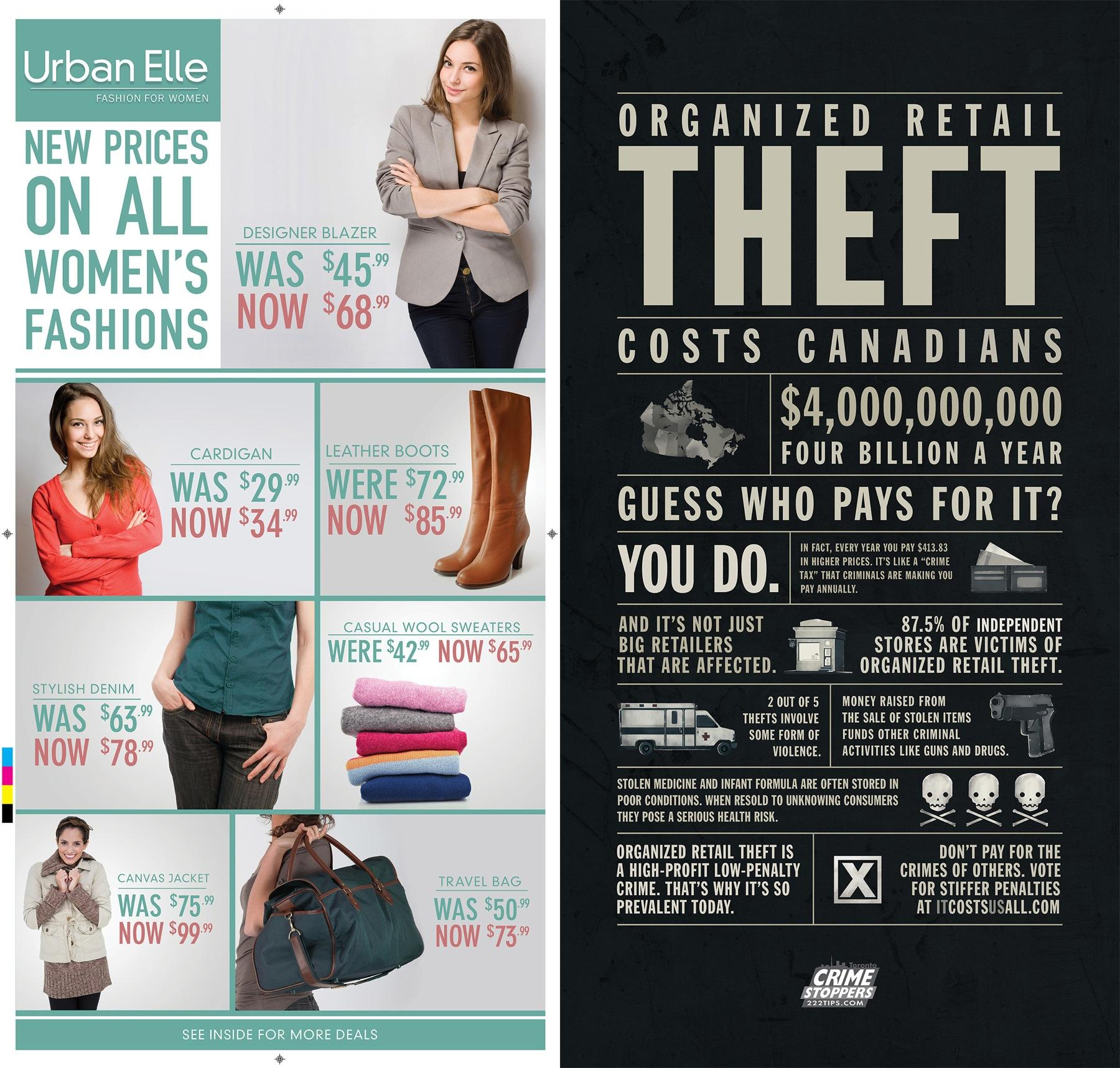 Toronto Crime Stoppers Direct Ad -  Urban Elle