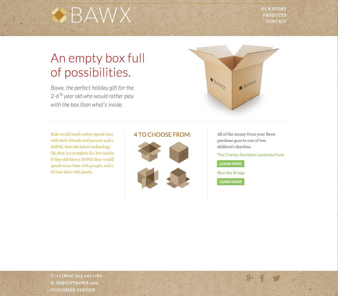 BAWX Digital Ad -  An empty box full of possibilities