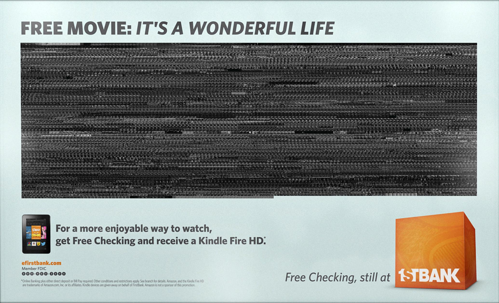 FirstBank Outdoor Ad -  It's a Wonderful Life