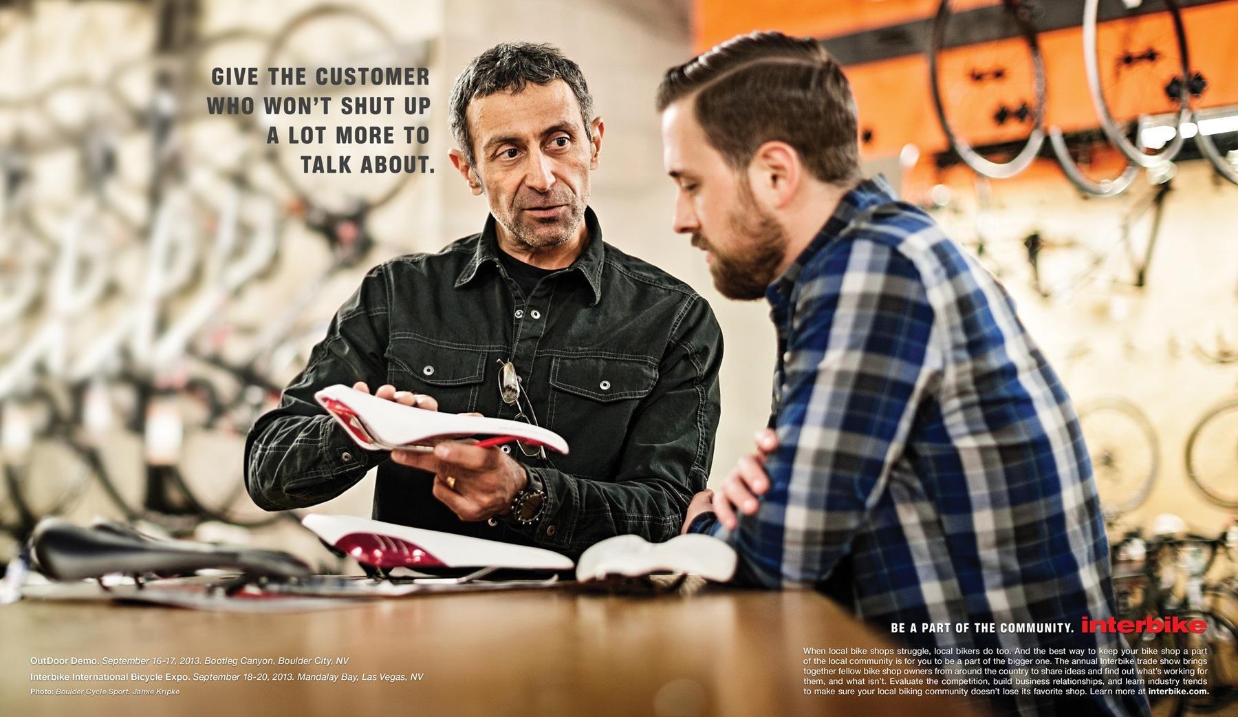 Interbike Print Ad -  Shut up