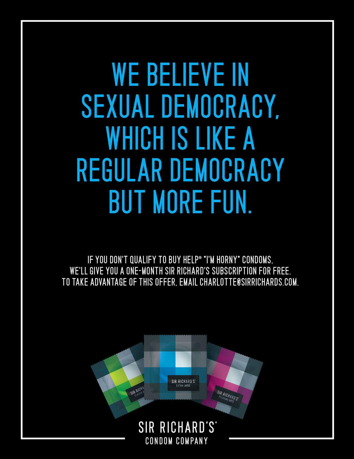 Sir Richard's Condoms Digital Ad -  Democracy