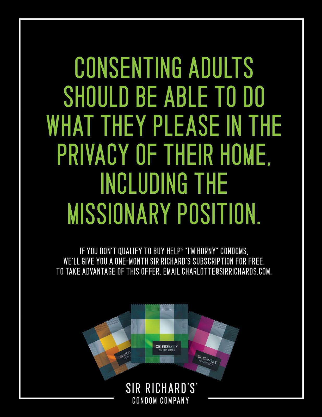 Sir Richard's Condoms Digital Ad -  Missionary