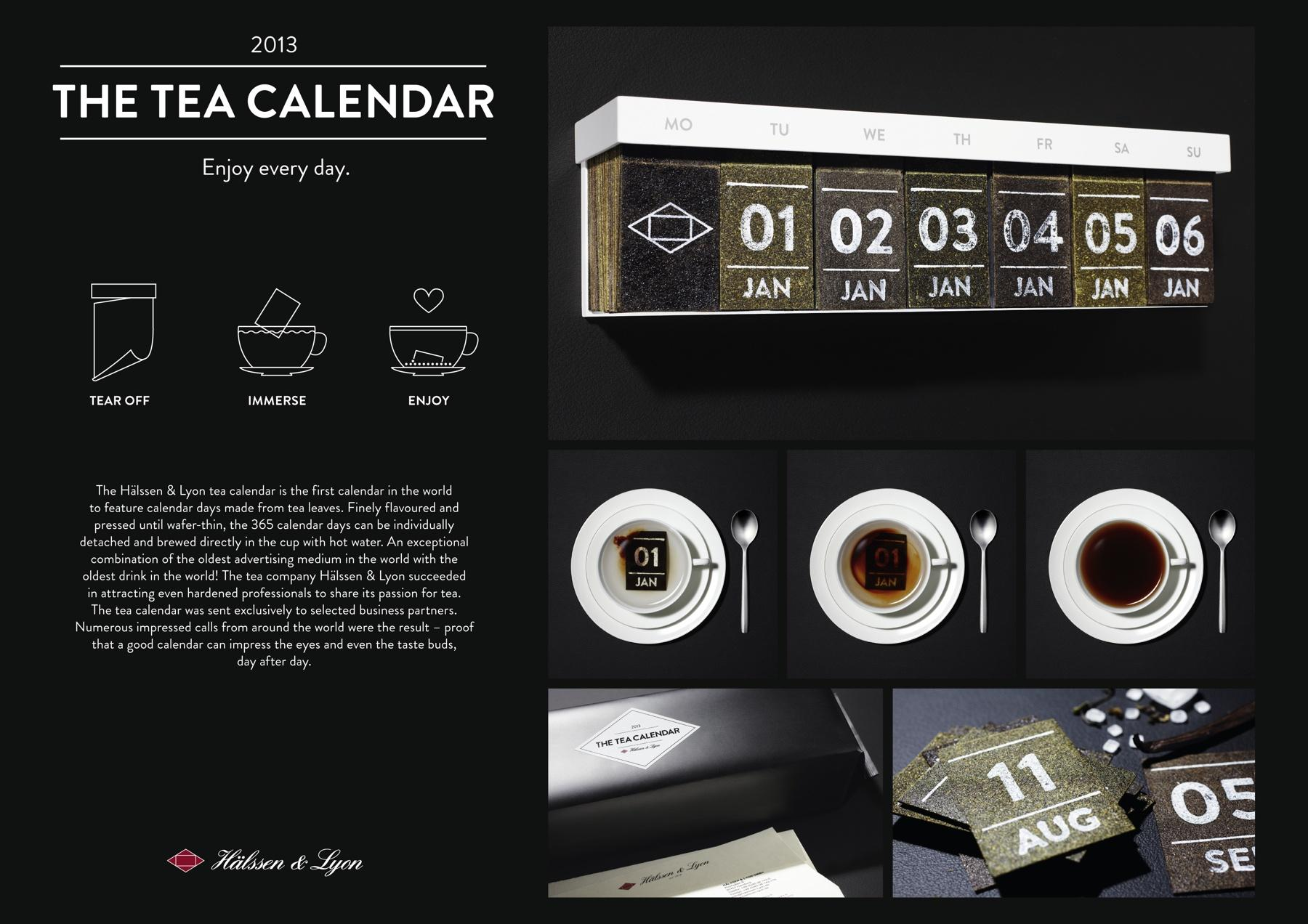 Hälssen & Lyon Direct Ad -  Tea Calendar