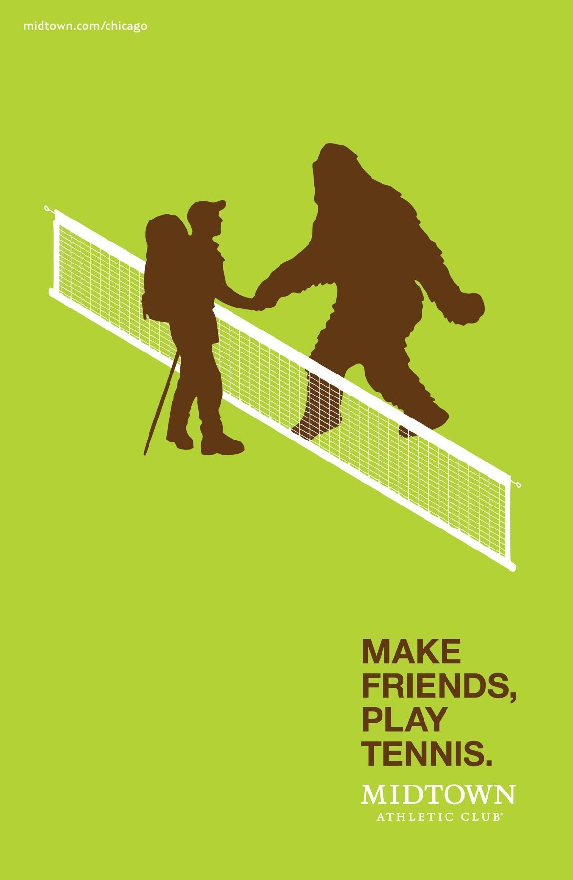 Midtown Athletic Club Print Ad -  Tennis, 1
