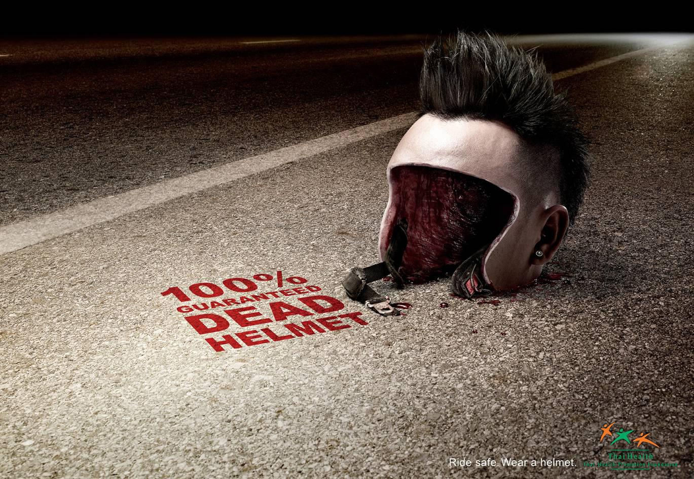 Thai Health Promotion Foundation Print Ad -  Dead Helmet, 1