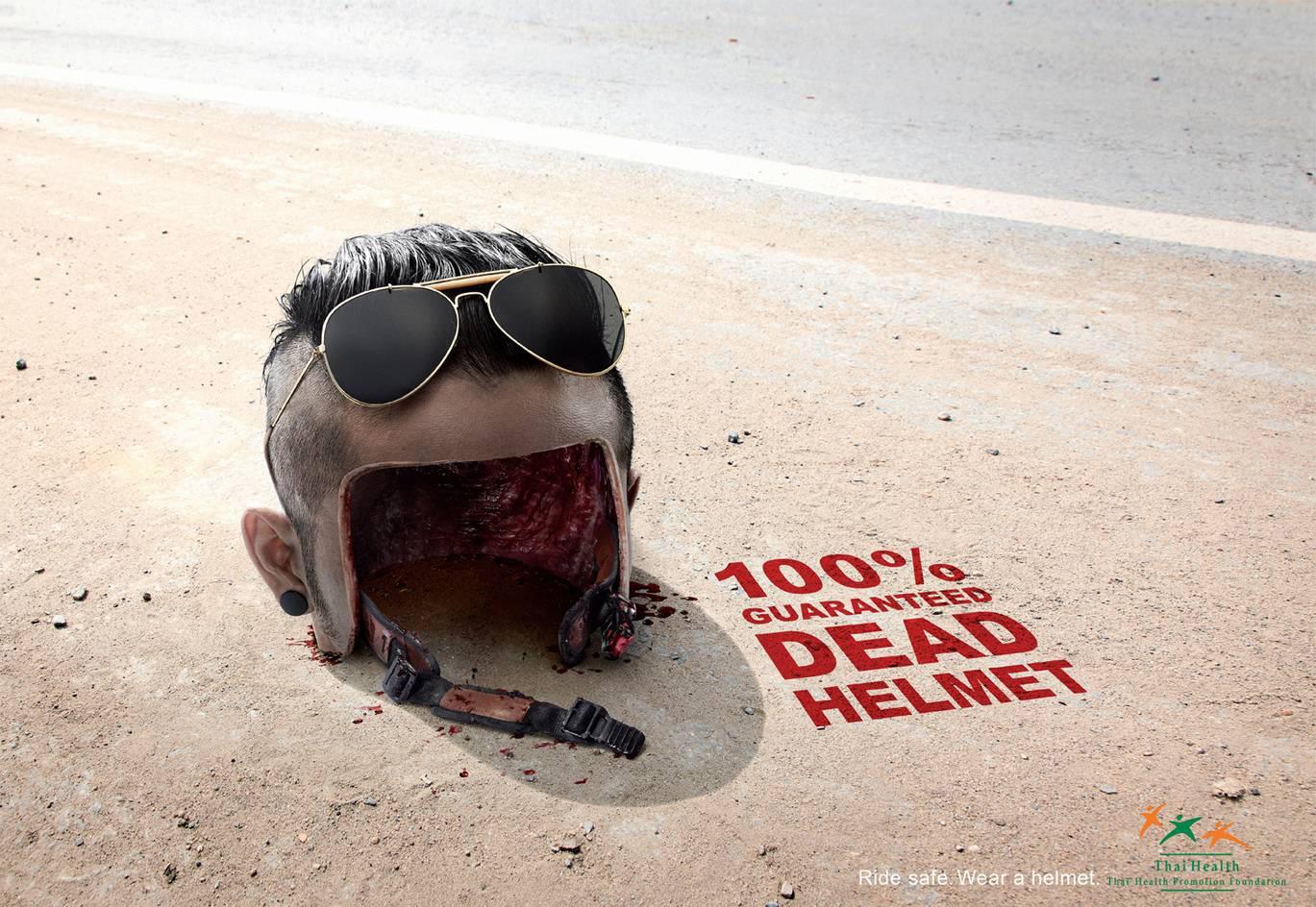Thai Health Promotion Foundation Print Ad -  Dead Helmet, 2