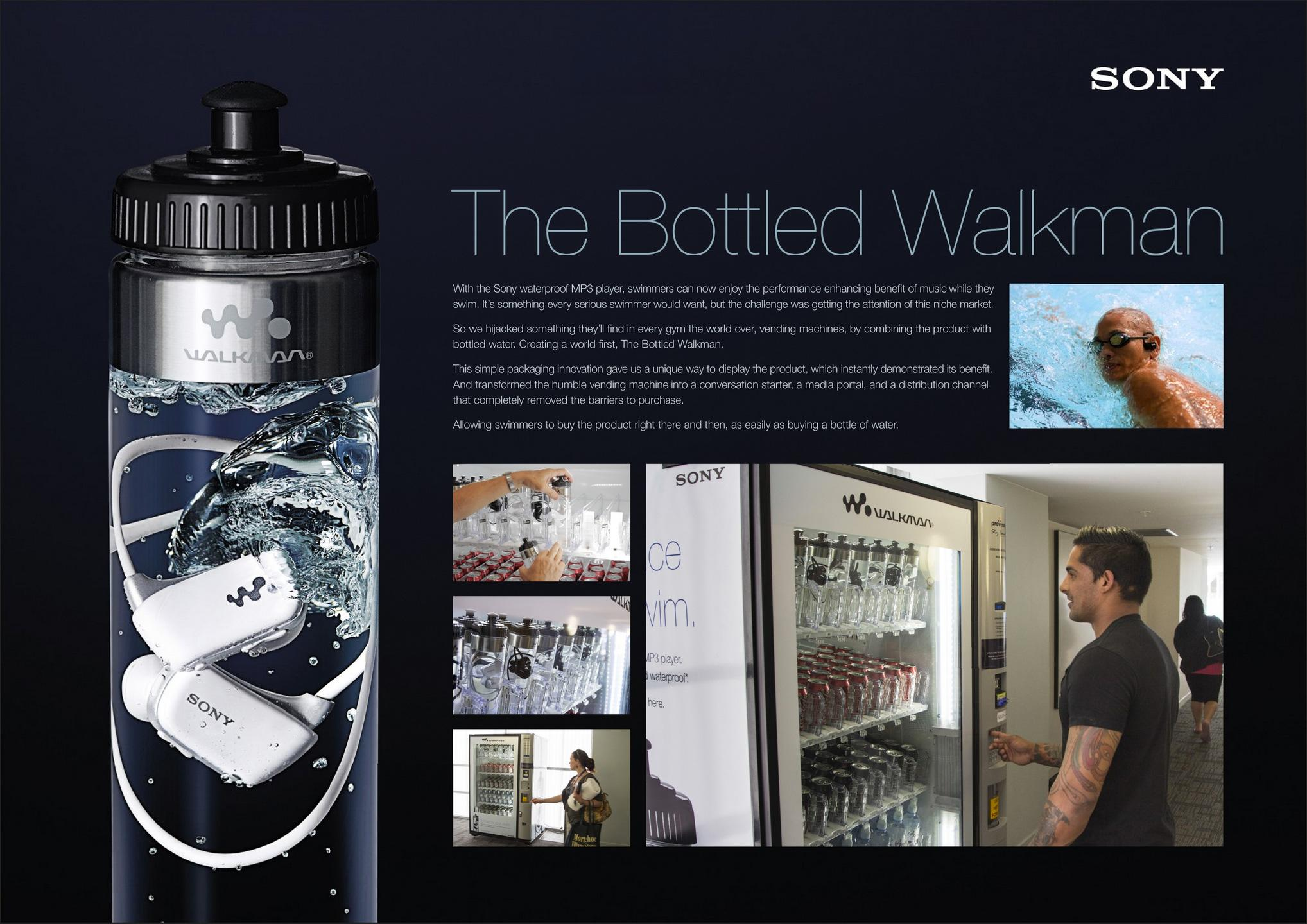 Sony Direct Ad -  The bottled walkman