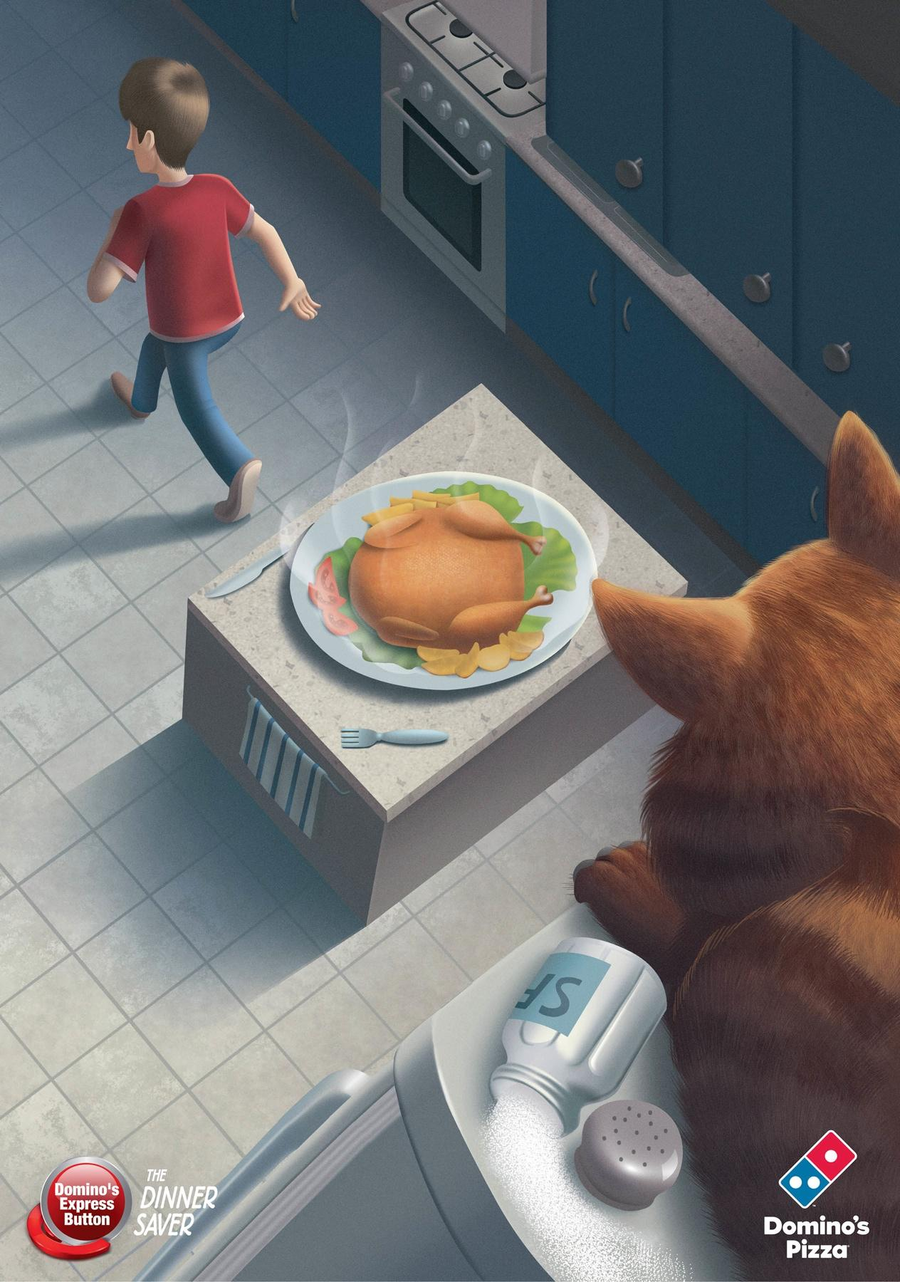 Domino's Pizza Print Ad -  The Dinner Saver, 2