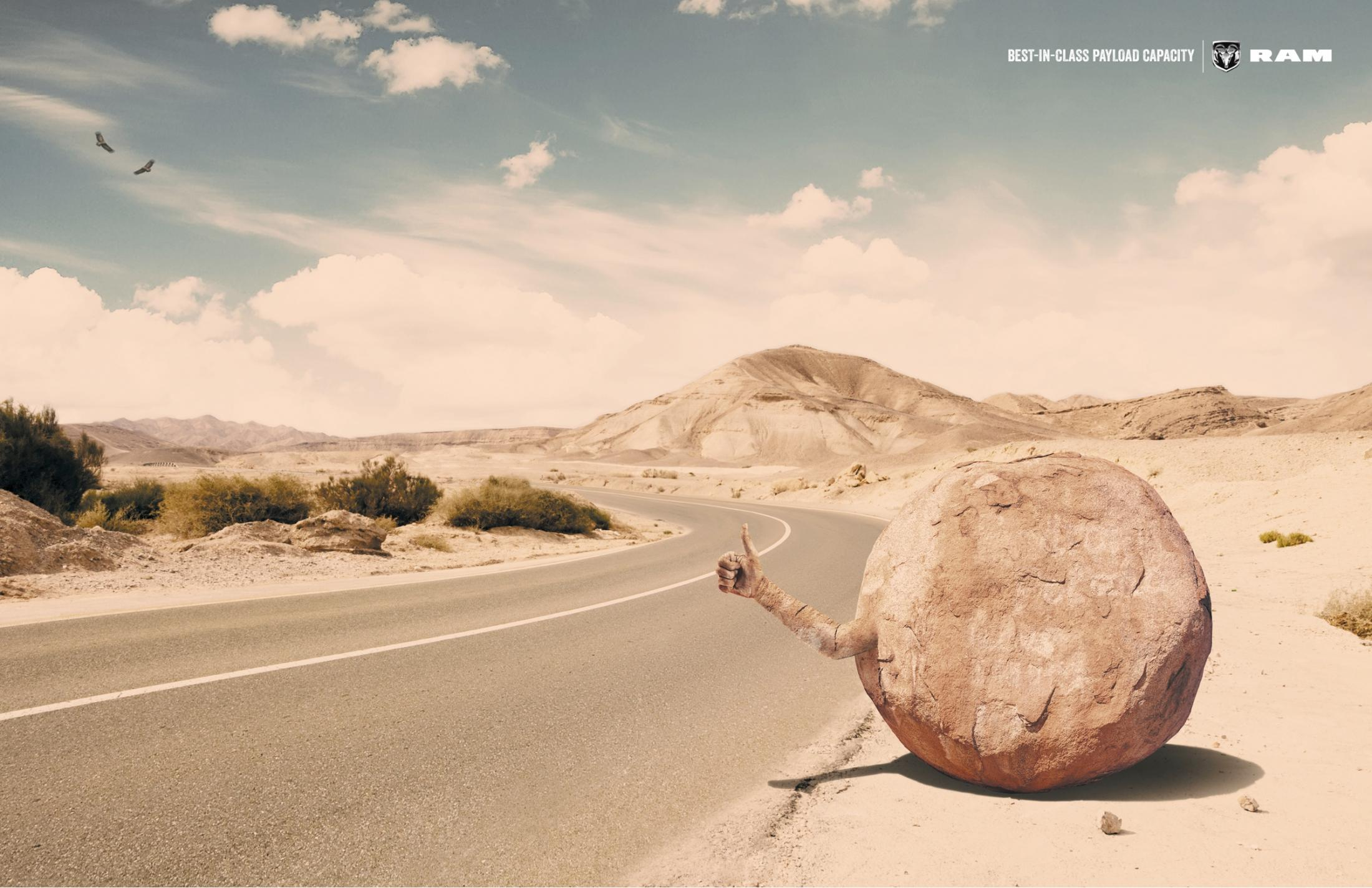 Chrysler Print Ad -  The rock