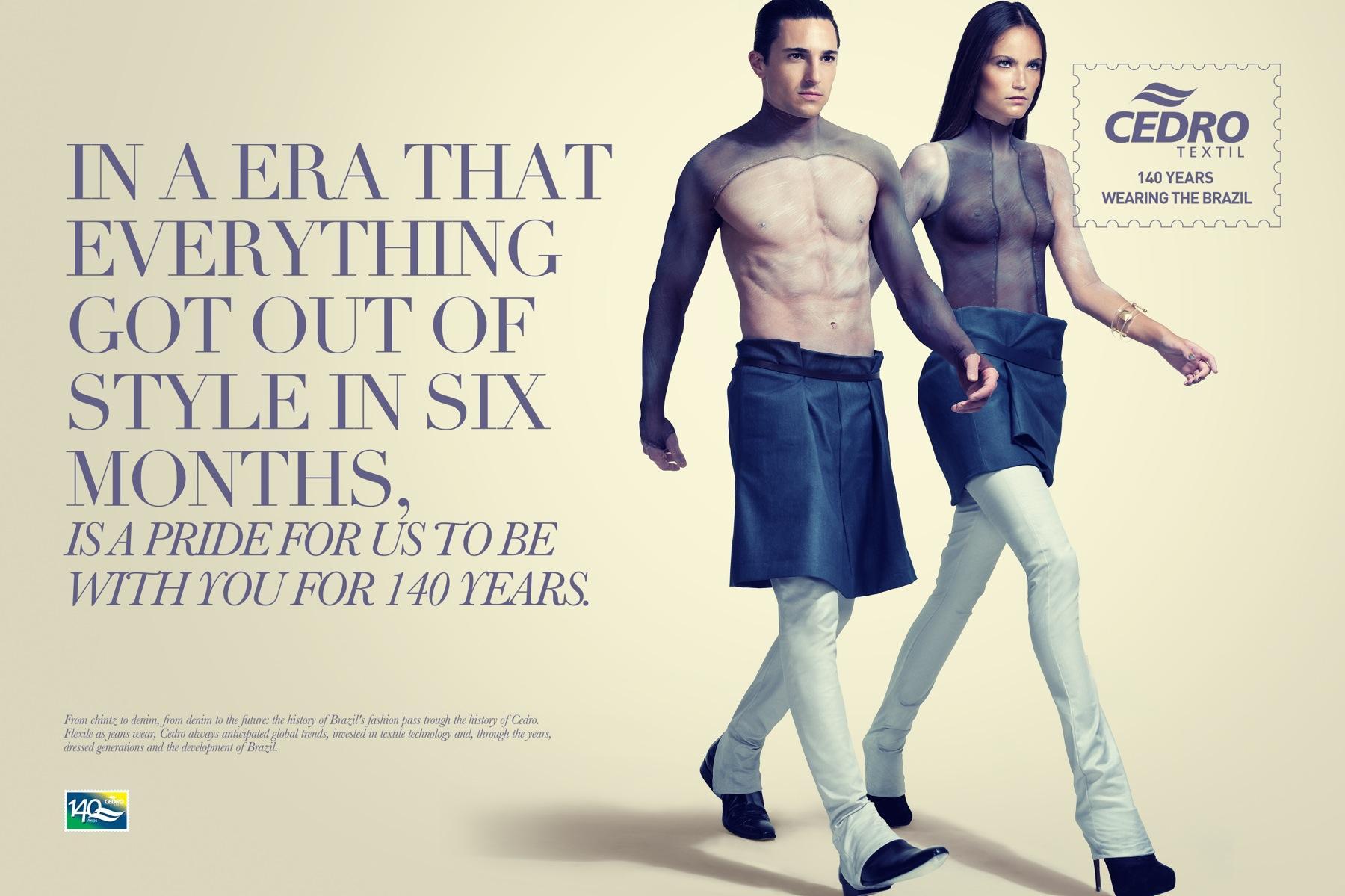 Cedro Textil Print Ad -  The 2000's