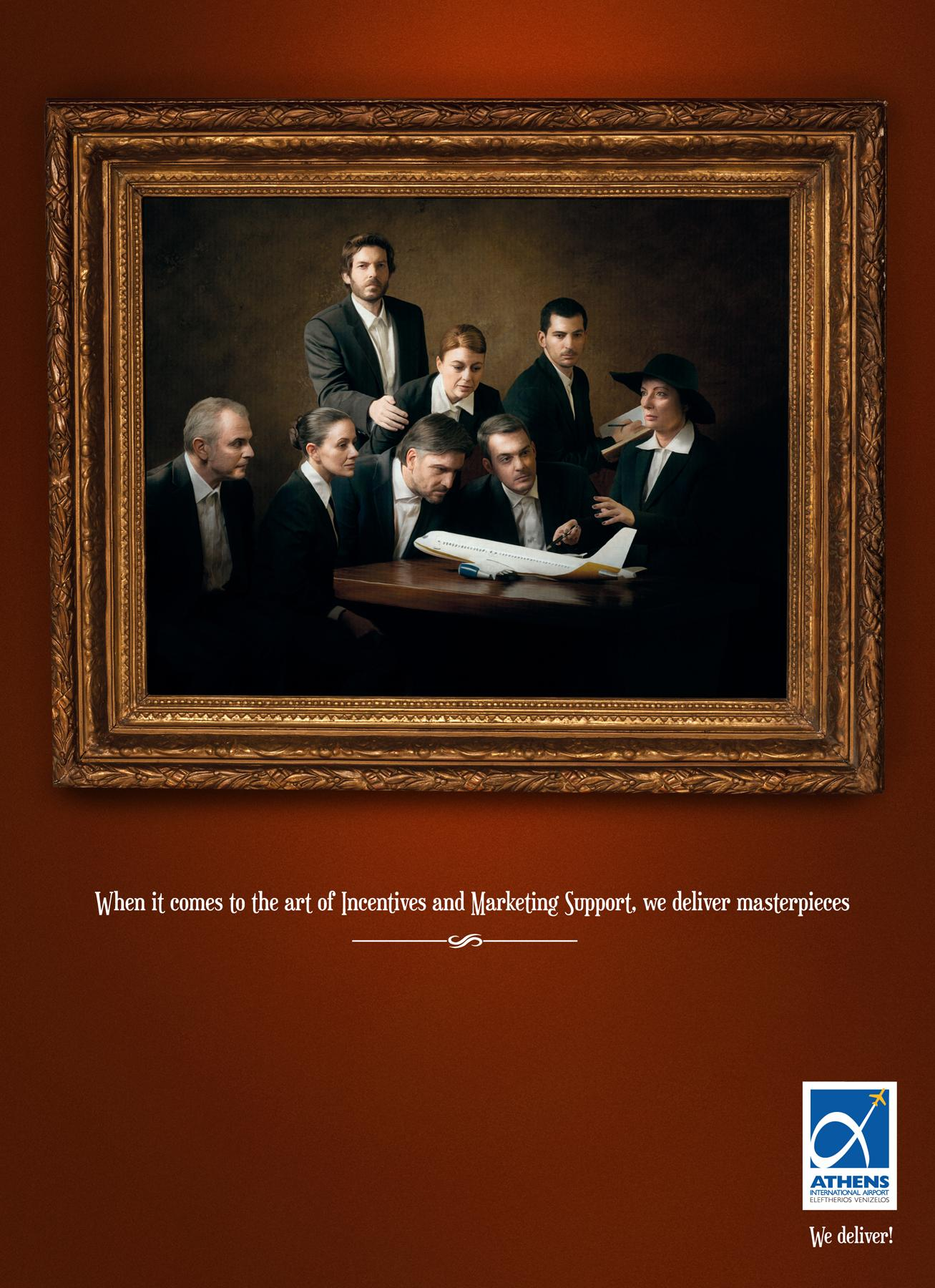 Athens International Airport Print Ad -  The Anatomy lesson by Rembrandt