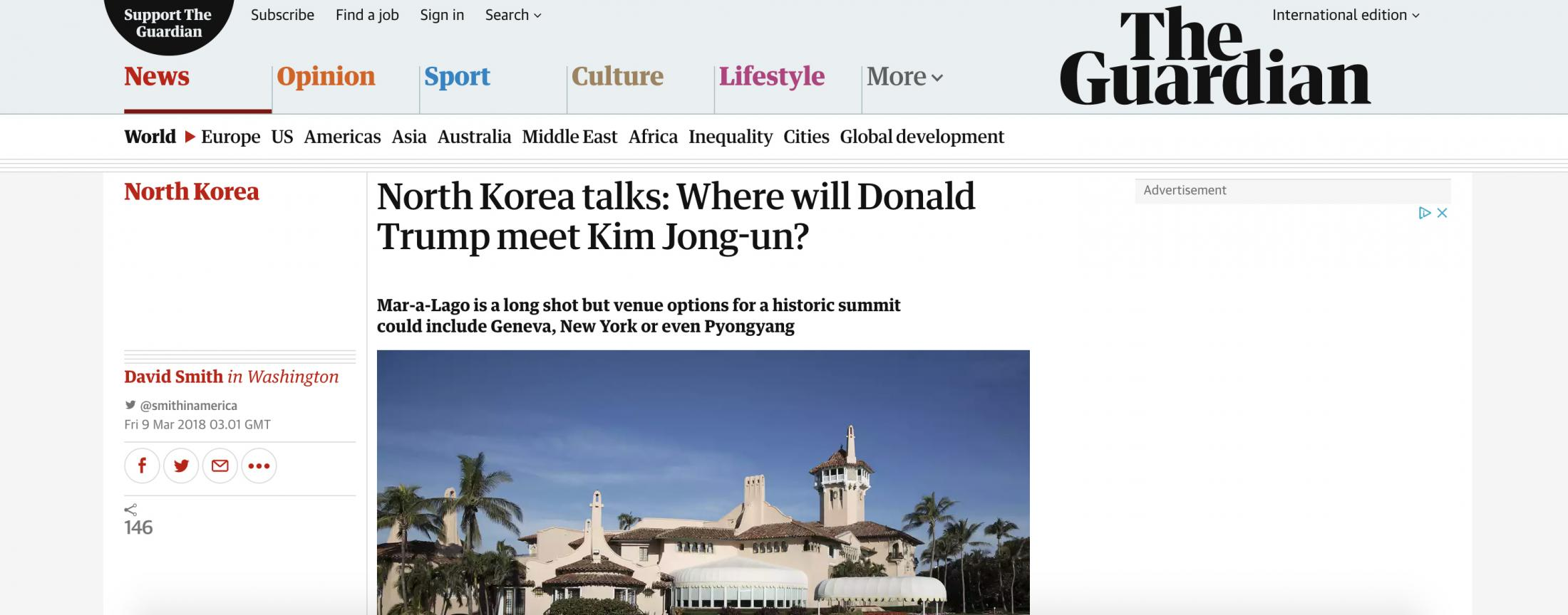 Only in Lapland Digital Ad - Trump and Kim Jong-un to Meet Halfway