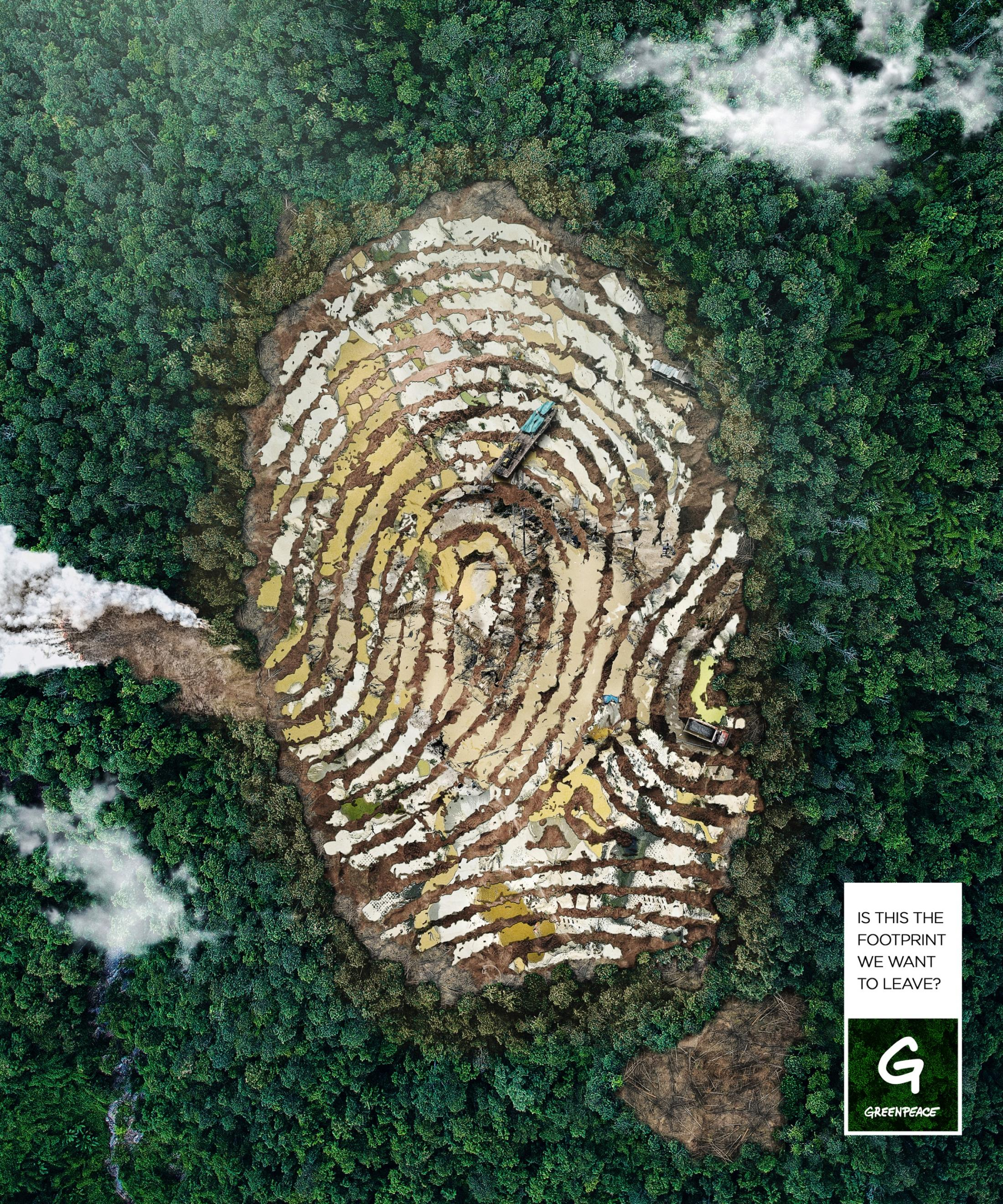 Greenpeace Print Ad - The Pollution Footprint, 2
