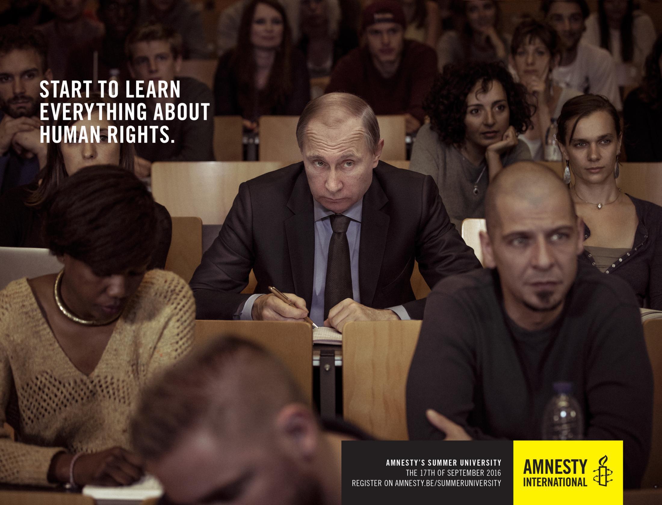 Amnesty International Outdoor Ad - Putin