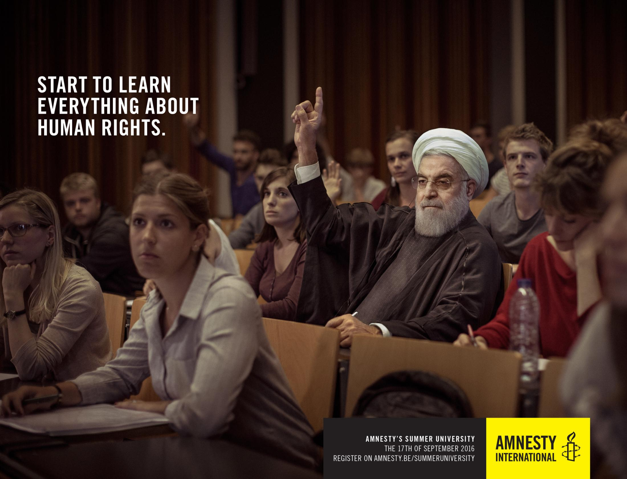 Amnesty International Outdoor Ad - Rouhani