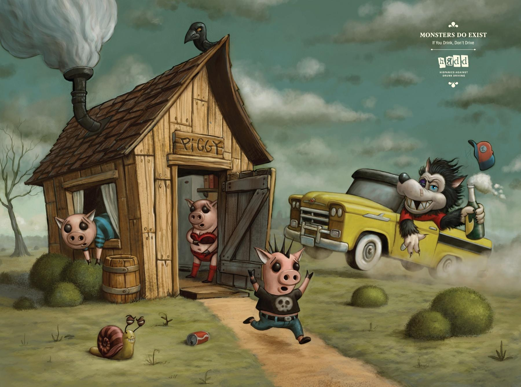 HADD Print Ad -  Three Little Pigs