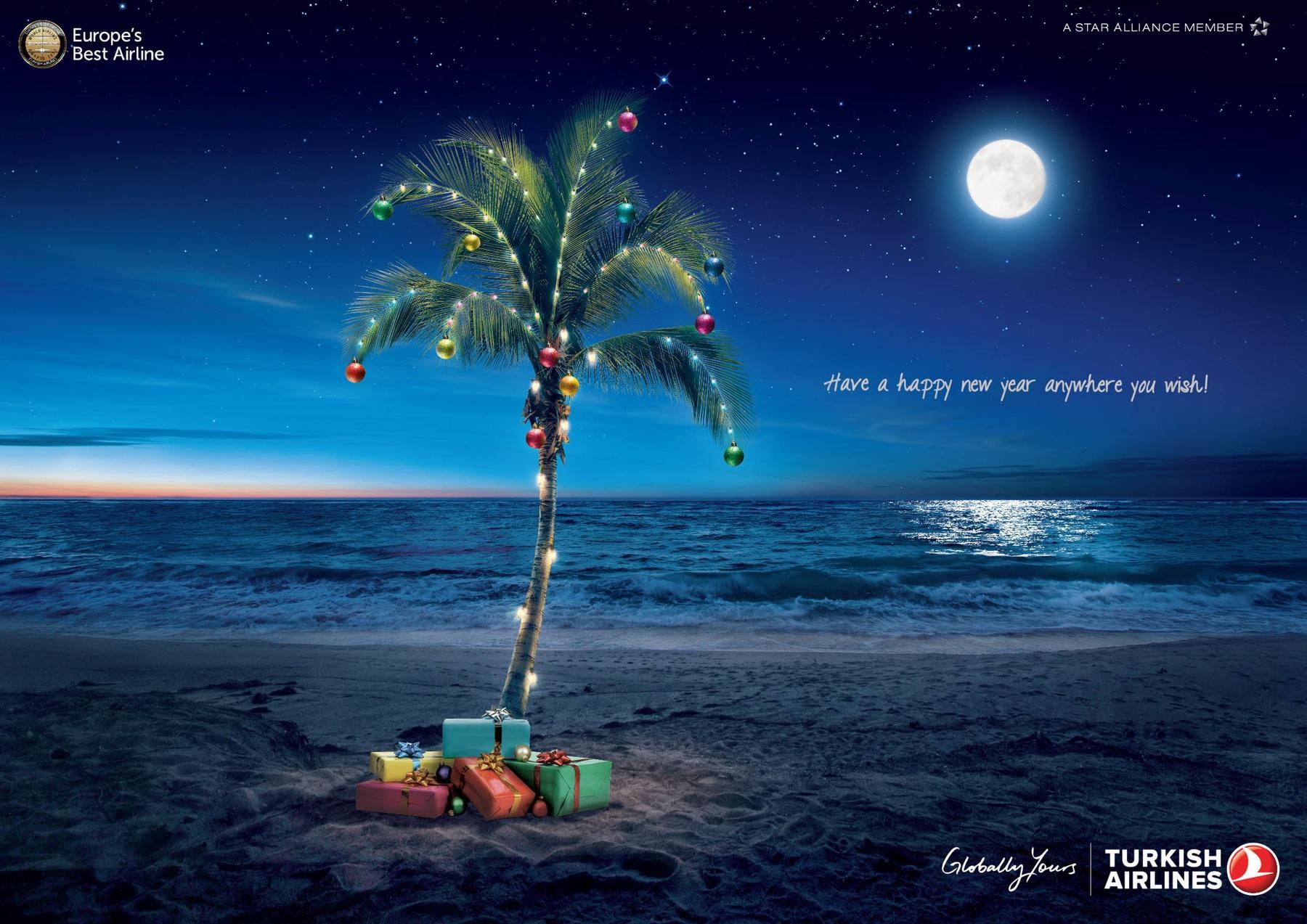 Turkish Airlines Print Ad -  Beach