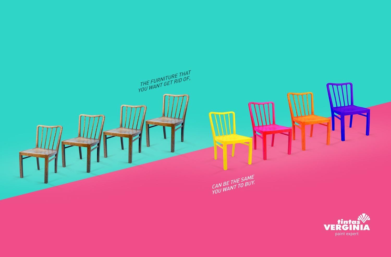 Tintas Verginia Print Ad -  Chairs