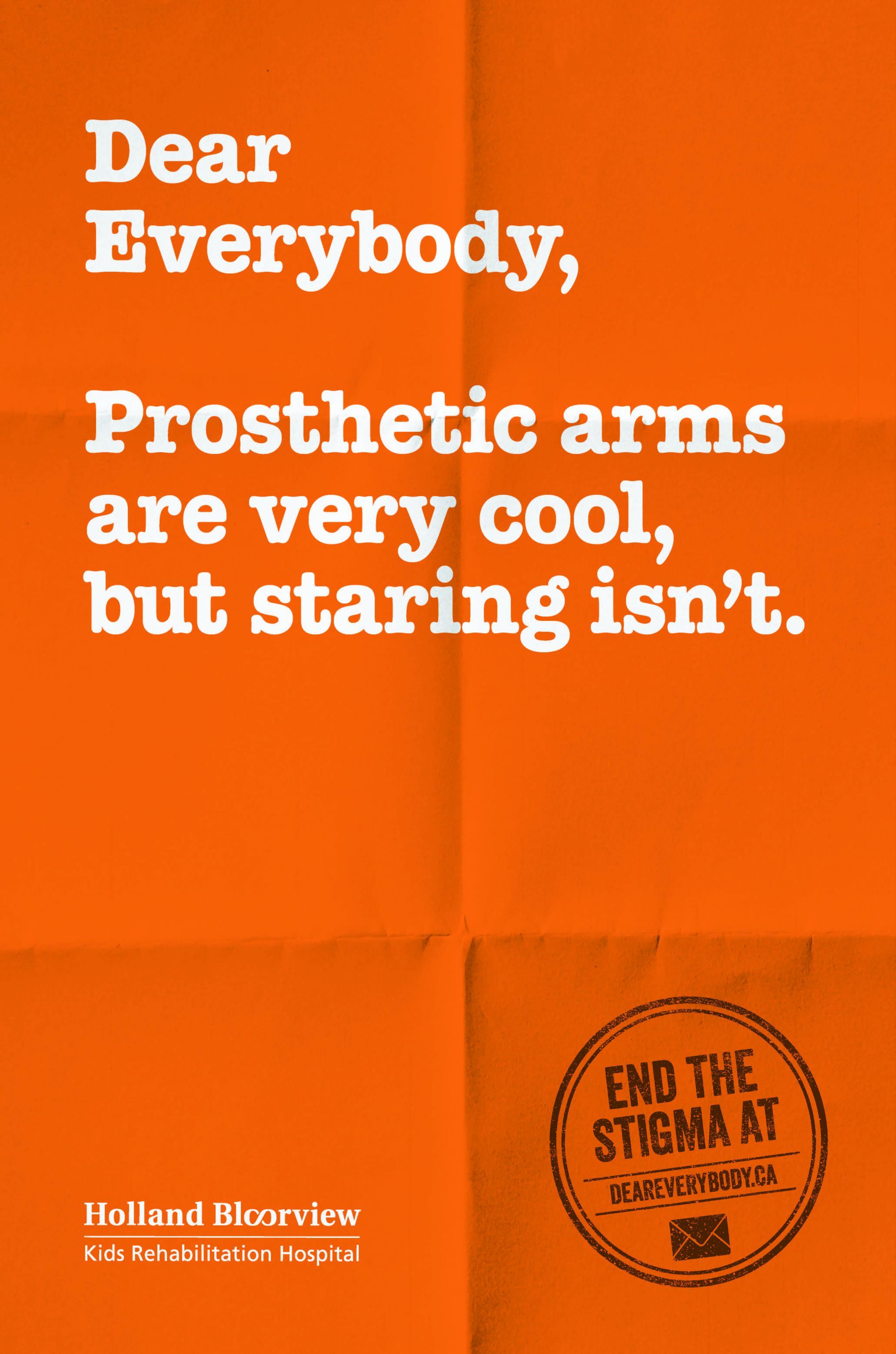 Holland Bloorview Kids Rehabilitation Outdoor Ad - Dear Everybody, 1