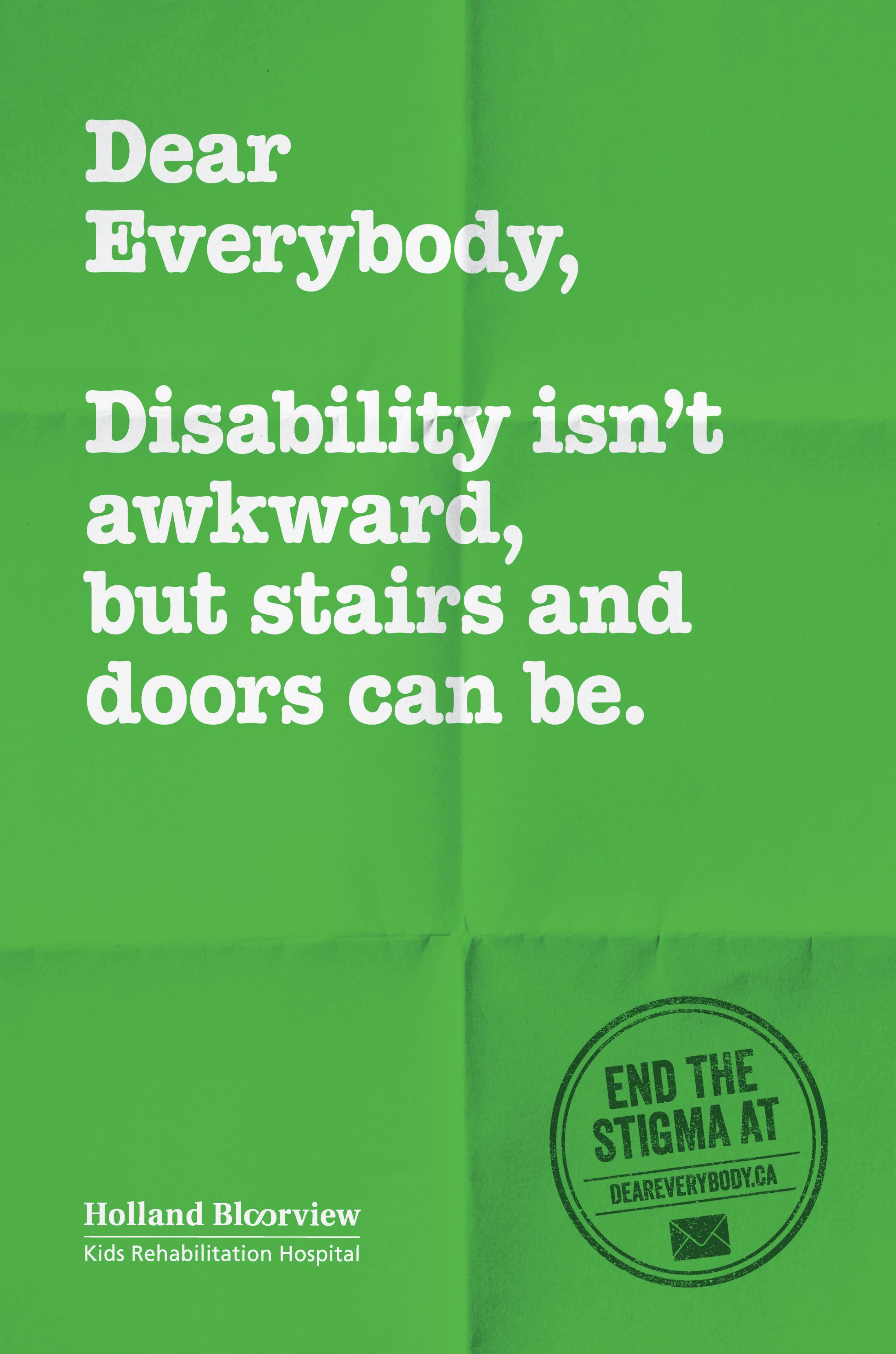 Holland Bloorview Kids Rehabilitation Outdoor Ad - Dear Everybody, 2