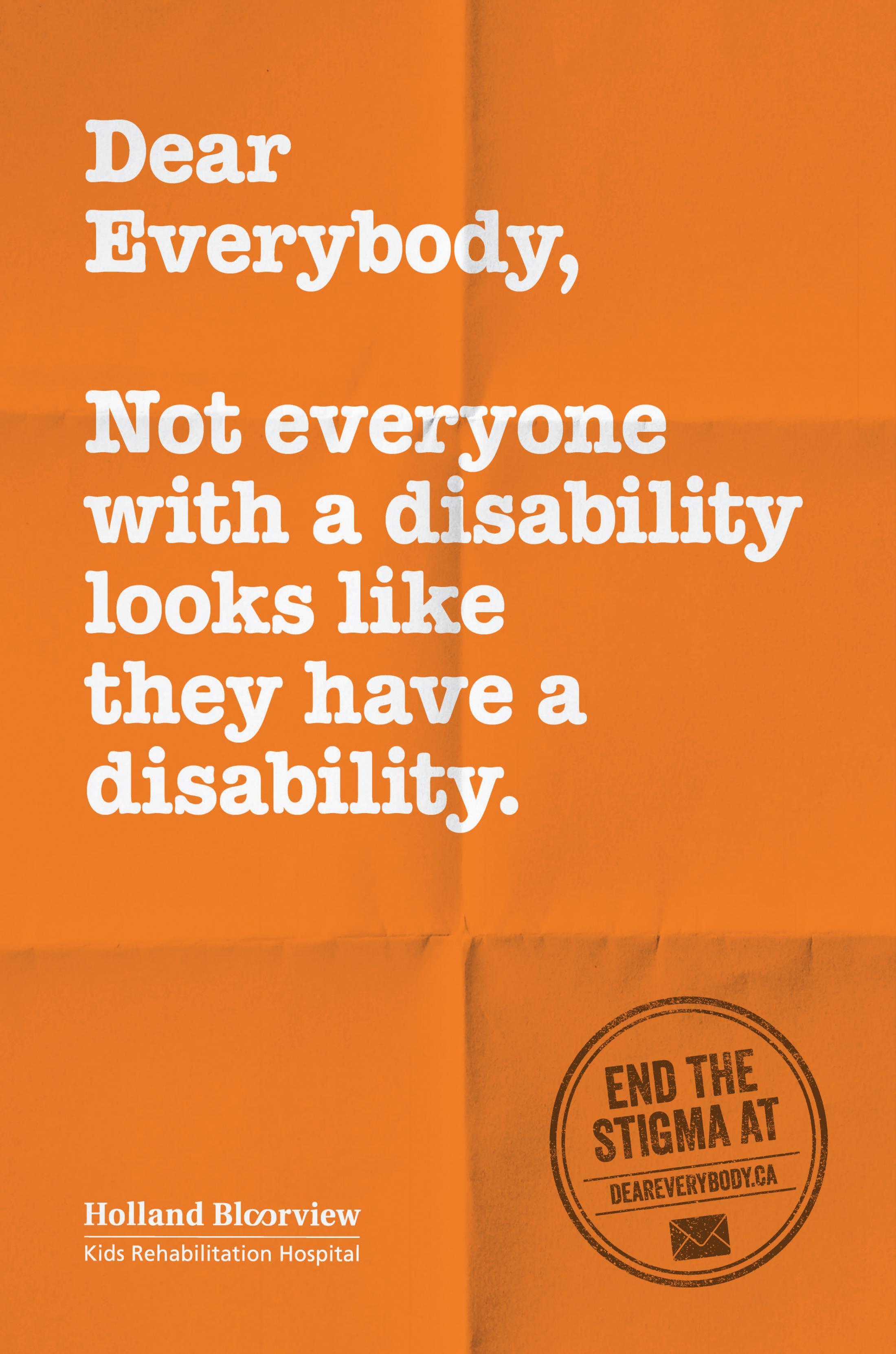 Holland Bloorview Kids Rehabilitation Outdoor Ad - Dear Everybody, 6