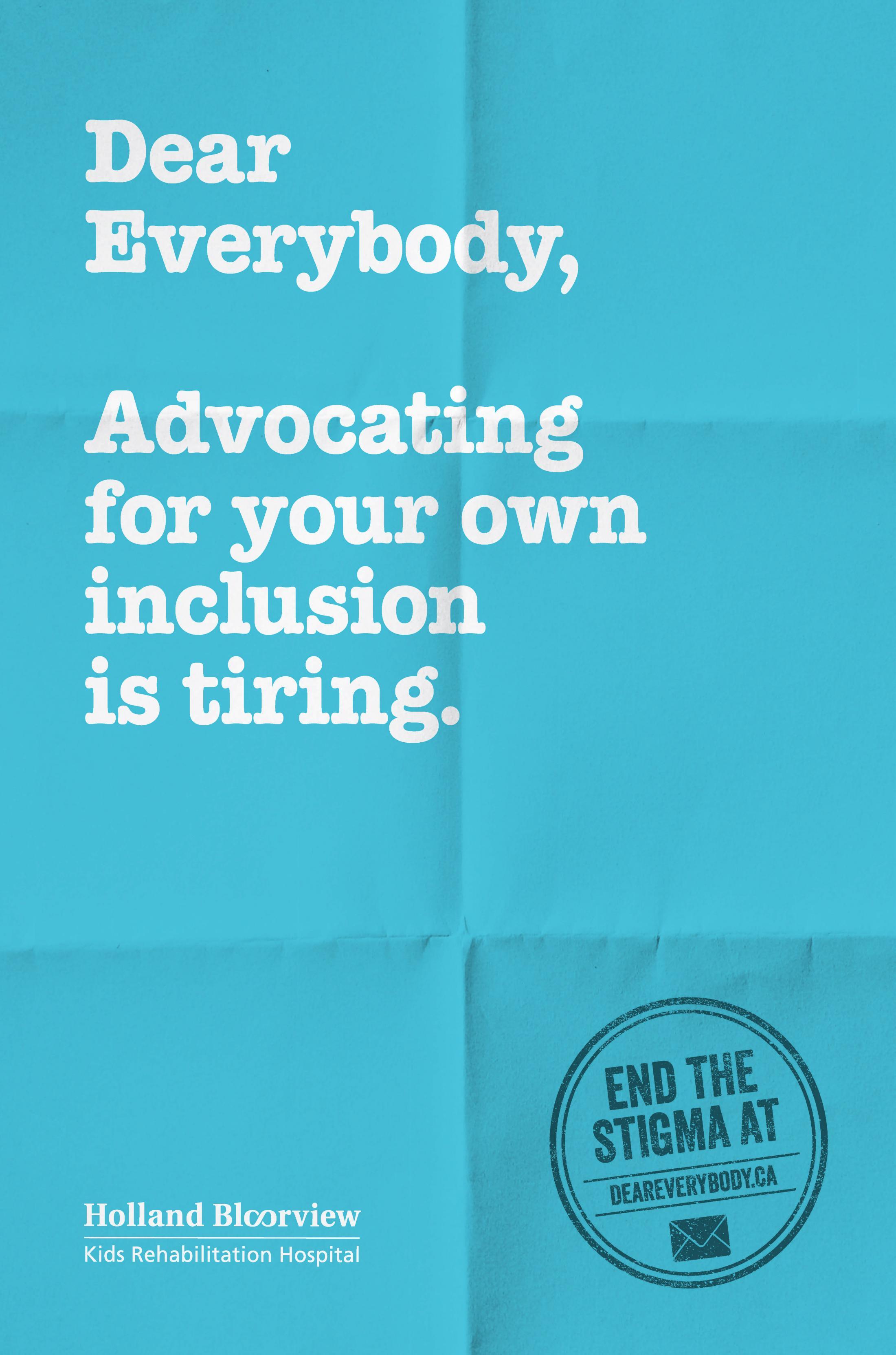 Holland Bloorview Kids Rehabilitation Outdoor Ad - Dear Everybody, 8