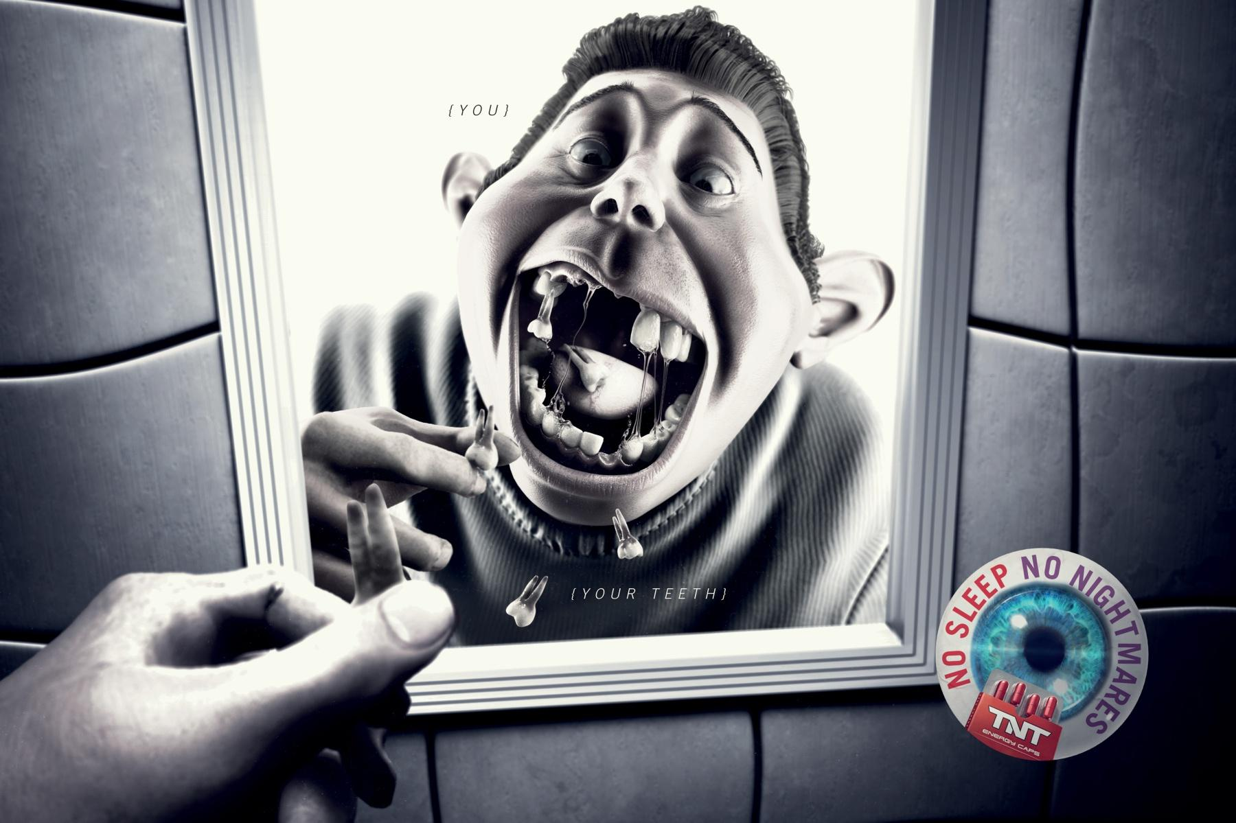 TNT Energy Drink Print Ad -  Teeth