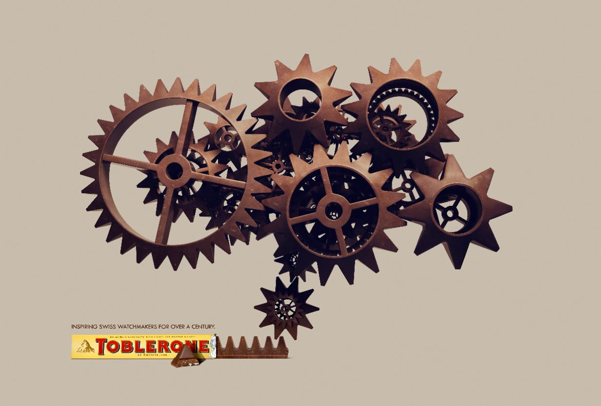 Toblerone Print Ad -  Inspiring Swiss, Cogs