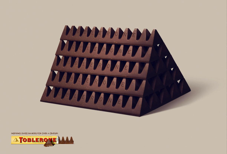 Toblerone Print Ad -  Inspiring Swiss, Gold bullion