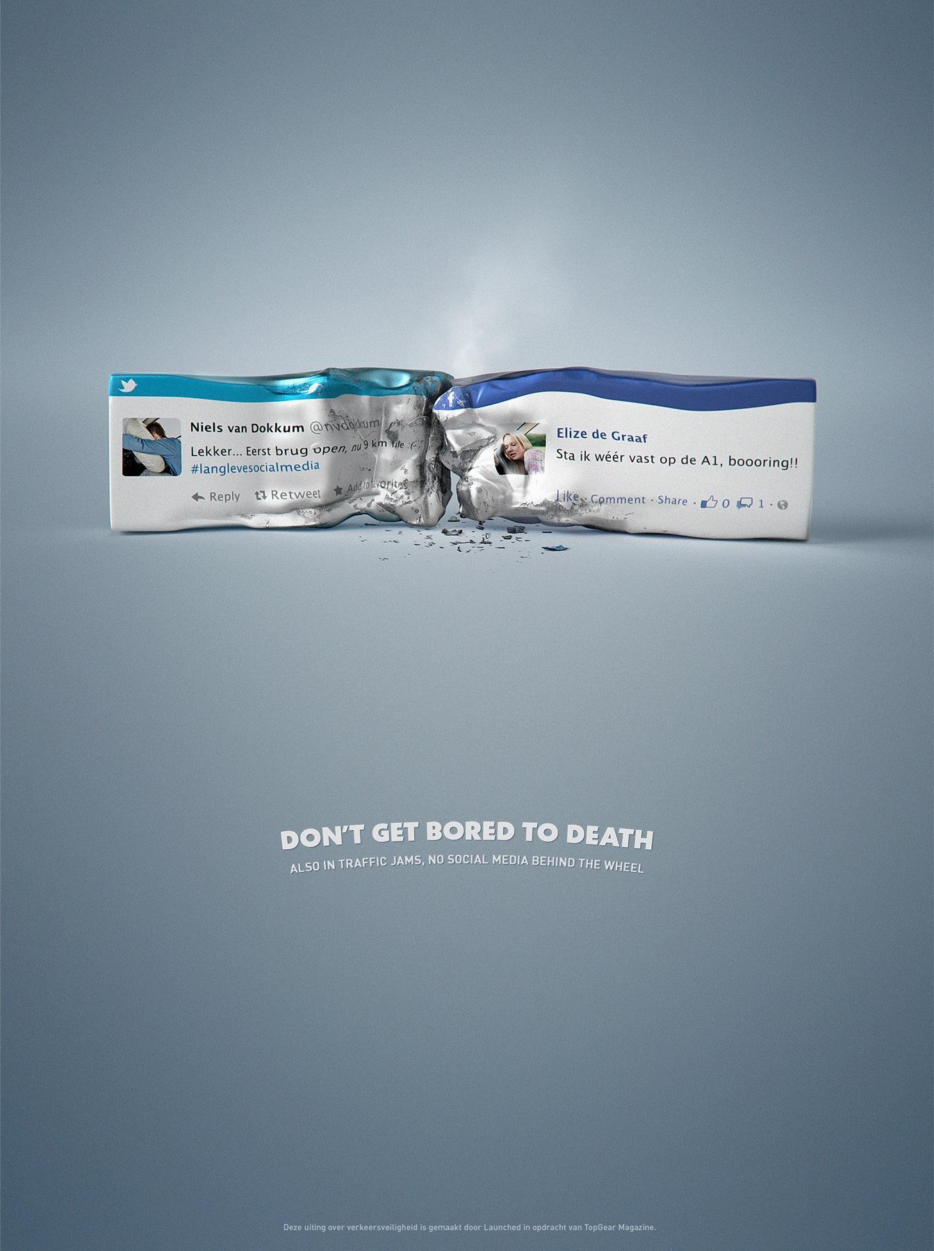 TopGear Print Ad -  Road Safety - Crash