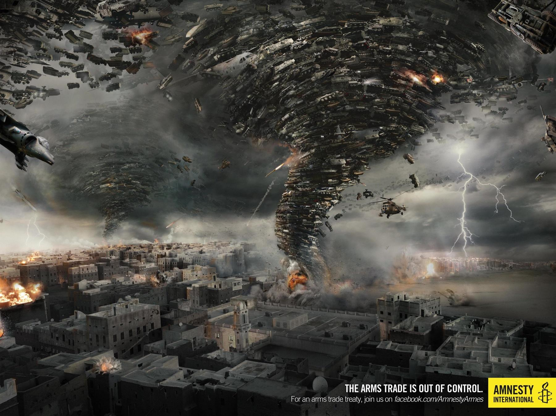 Amnesty International Print Ad -  Tornado