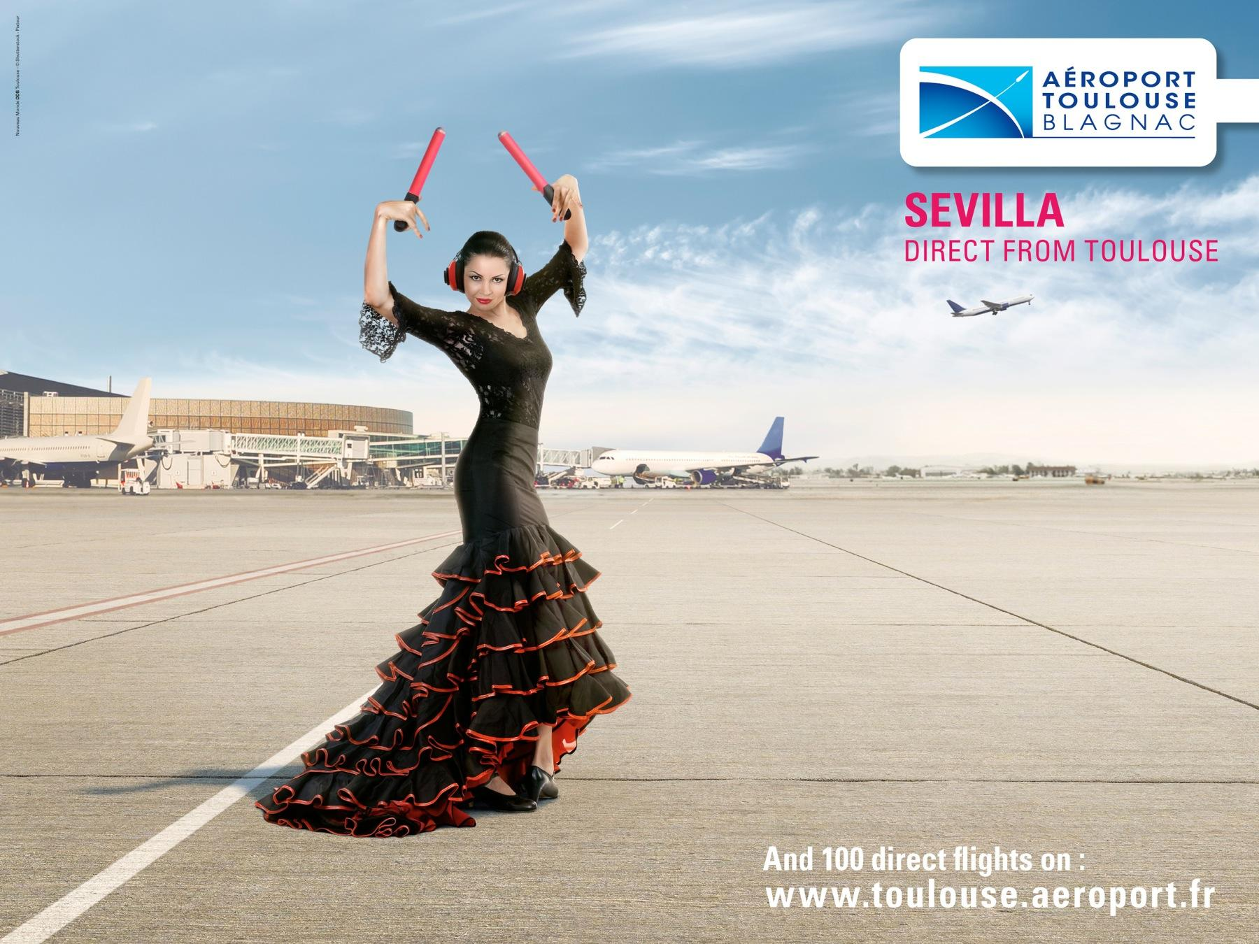 Toulouse Airport Print Ad -  Sevilla