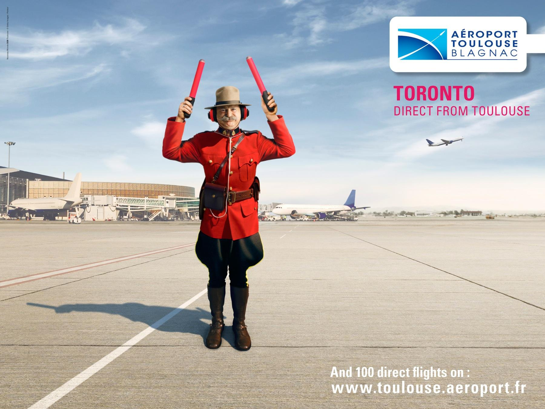 Toulouse Airport Print Ad -  Toronto